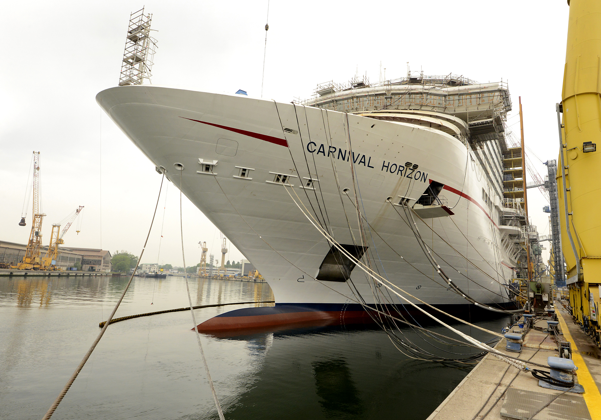 Construction of New Carnival Horizon Moving Along as Scheduled at Italy's Fincantieri Shipyard
