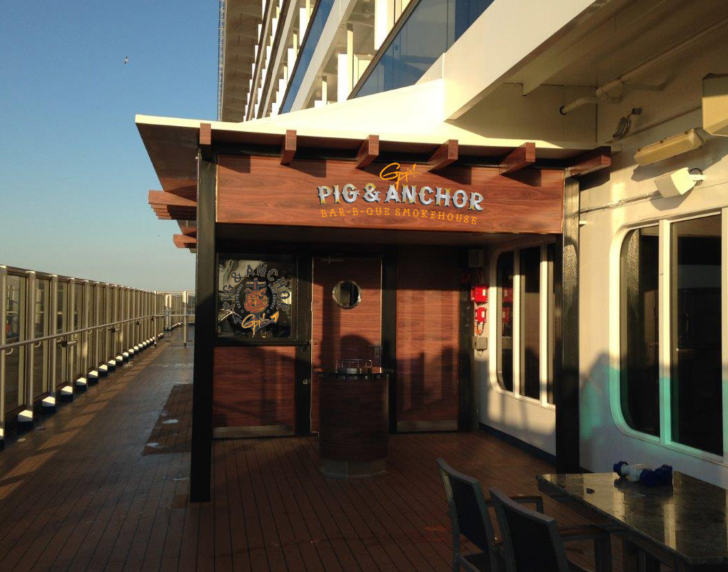 Guy Fieri-Designed Pig & Anchor Bar-B-Que Smokehouse  and Alchemy Bar Added to Carnival Breeze Following Dry Dock