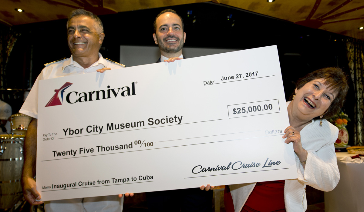 Carnival Paradise Departs Tampa Today On Carnival Cruise Line's First-Ever Voyage To Havana, Cuba