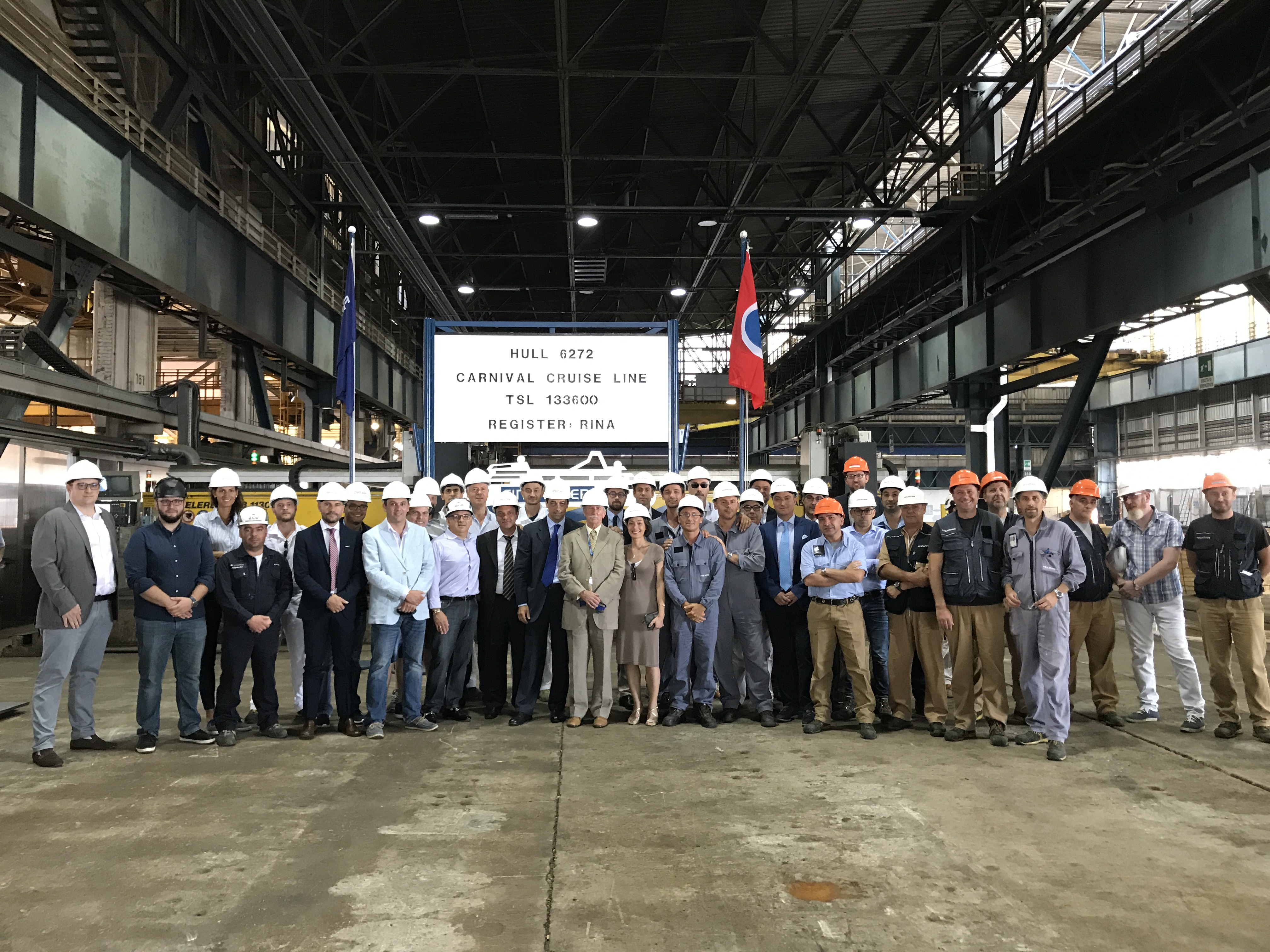 Steel Cutting Ceremony Held for New 133,500-ton Vista-Class Ship Set to Debut in 2019