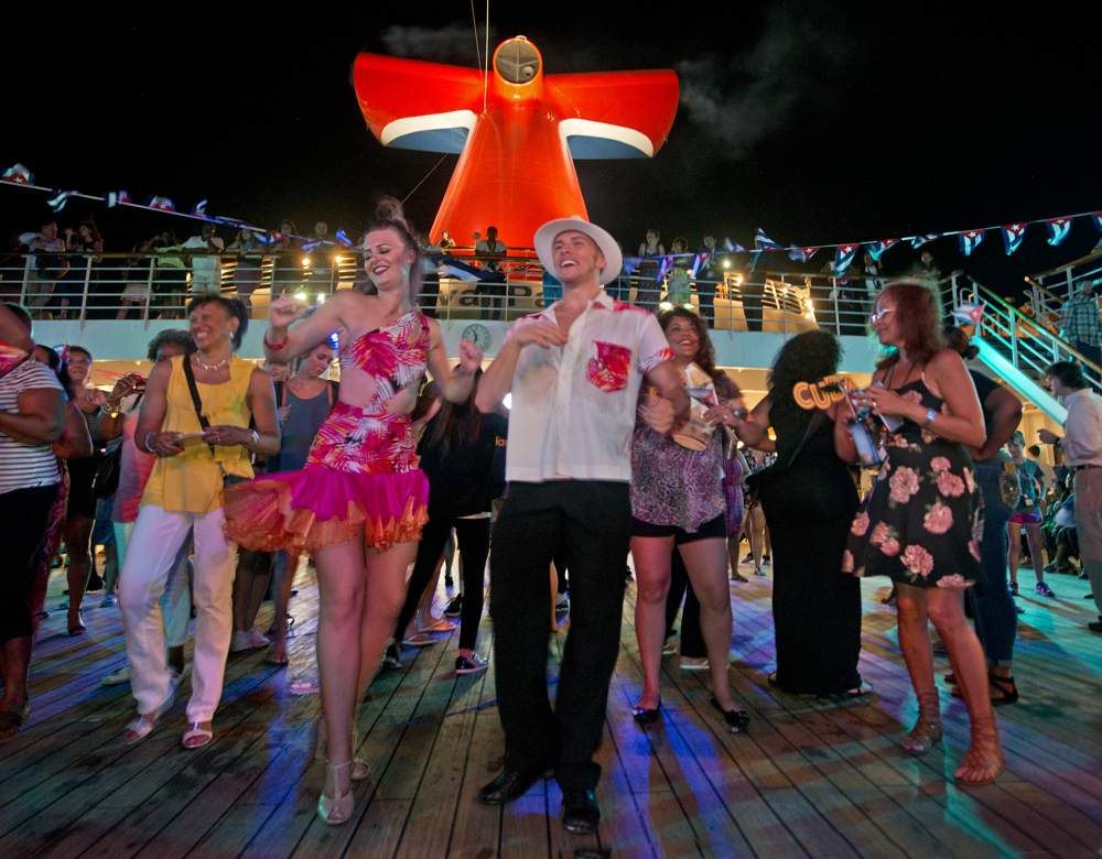 Guests Sailing to Havana Aboard Carnival Paradise  Enjoying Wide Variety of Cuban-Themed Activities on Board