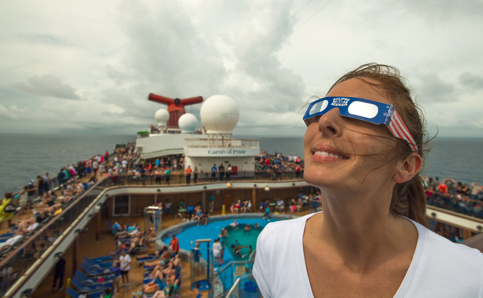Guests, Crew Aboard the 'Fun Ships' Celebrate Total Eclipse Carnival Style