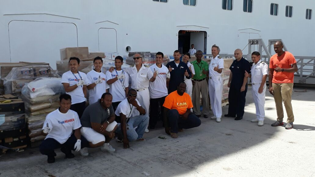 Carnival Fascination Delivers Food, Water and Other Relief Supplies to Island of Barbuda