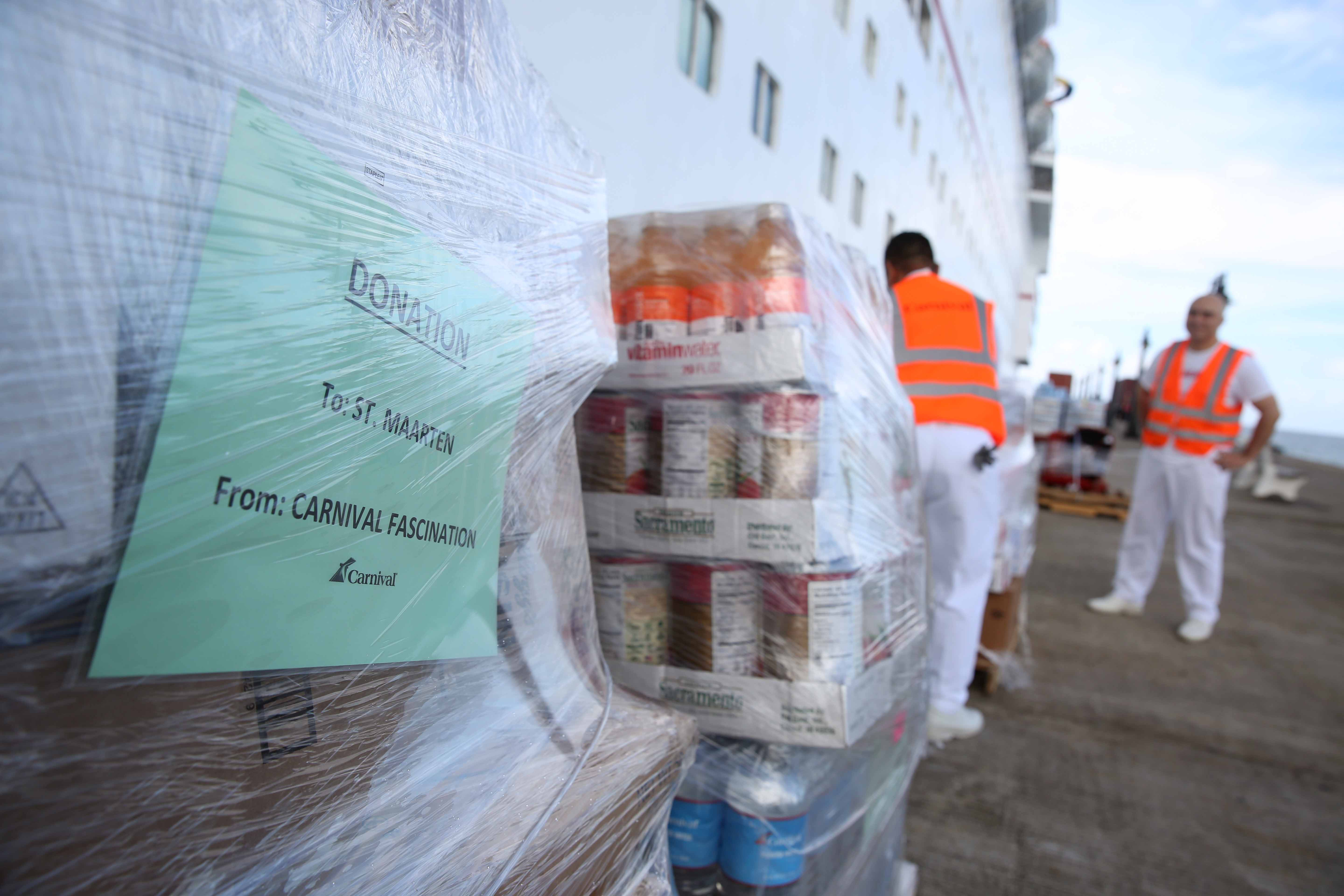 Carnival Fascination Delivers Relief Supplies to St. Maarten Residents Impacted by Hurricane Irma