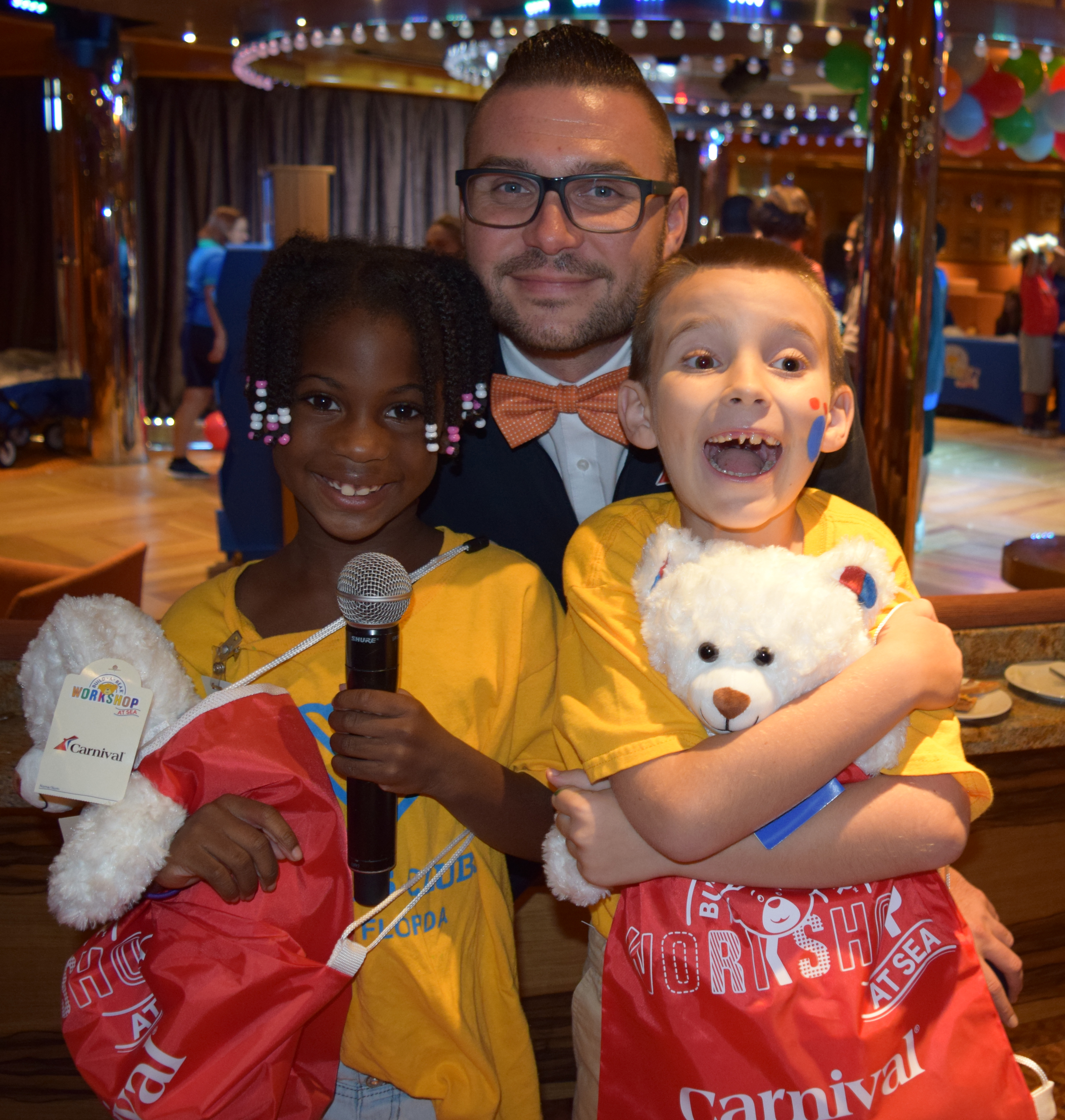 Carnival Cruise Line Hosts Build-A-Bear Day of Fun For 100 Kids from Boys & Girls Club Aboard Carnival Magic in Port Carnival