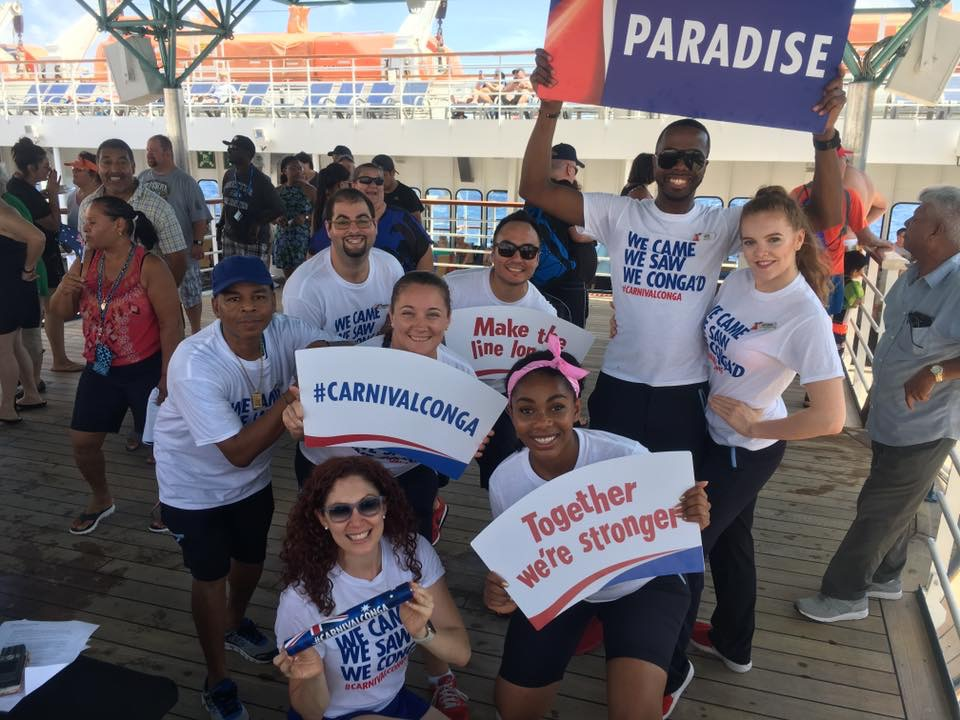 Carnival Cruise Line Creates the World's Longest Conga Line at Sea  for World Conga Day™
