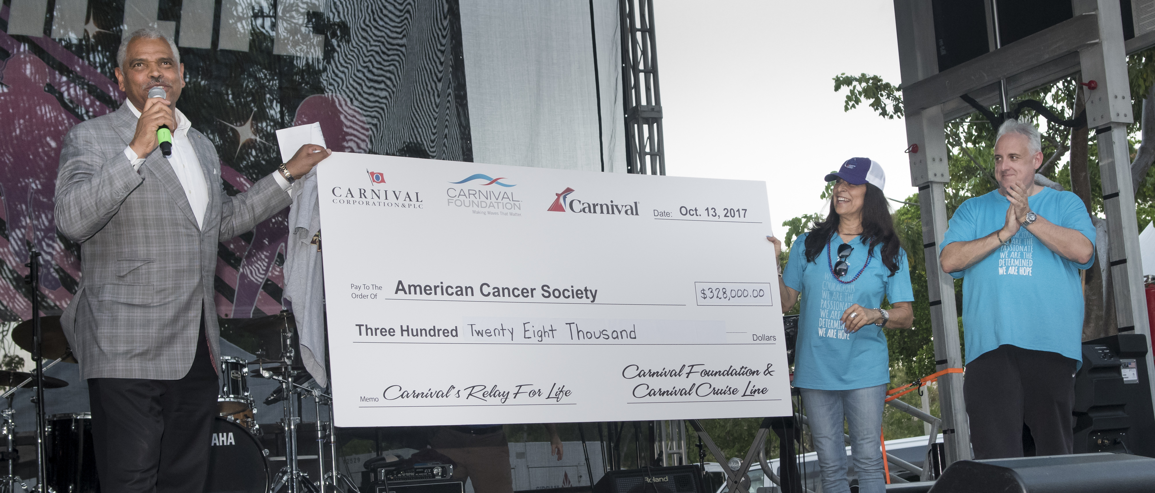 Carnival Corporation Raises Record $338,500 for American Cancer Society