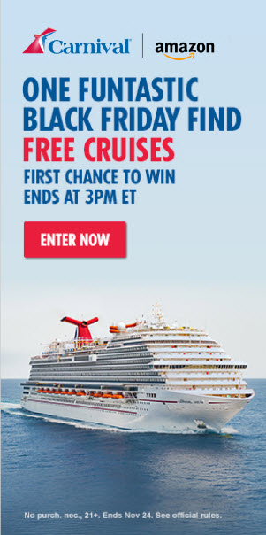 Carnival Cruise Line Teams With Amazon On Exclusive Black Friday