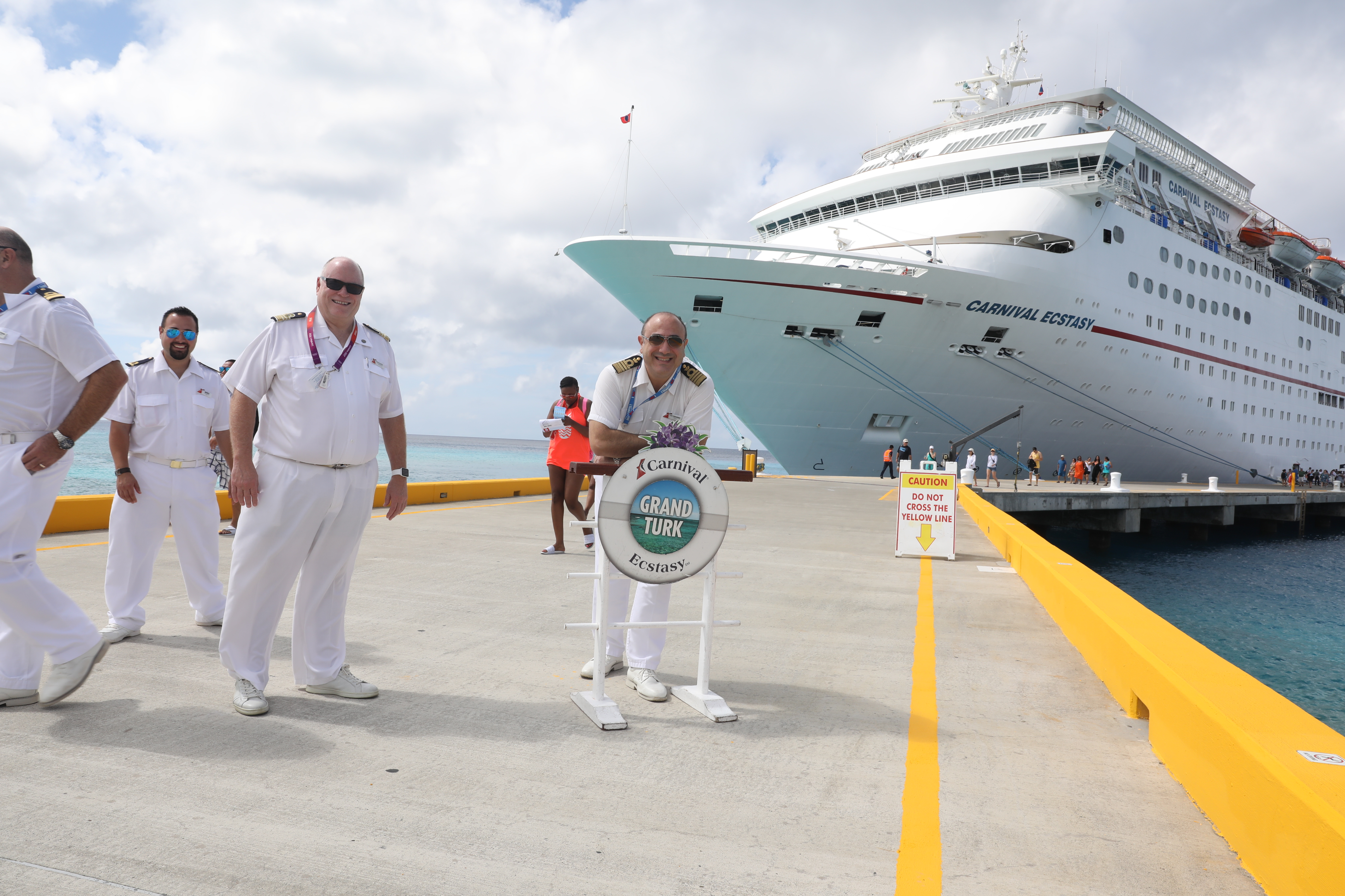 Grand Turk Cruise Center Re-Opens with Visit from Carnival Ecstasy