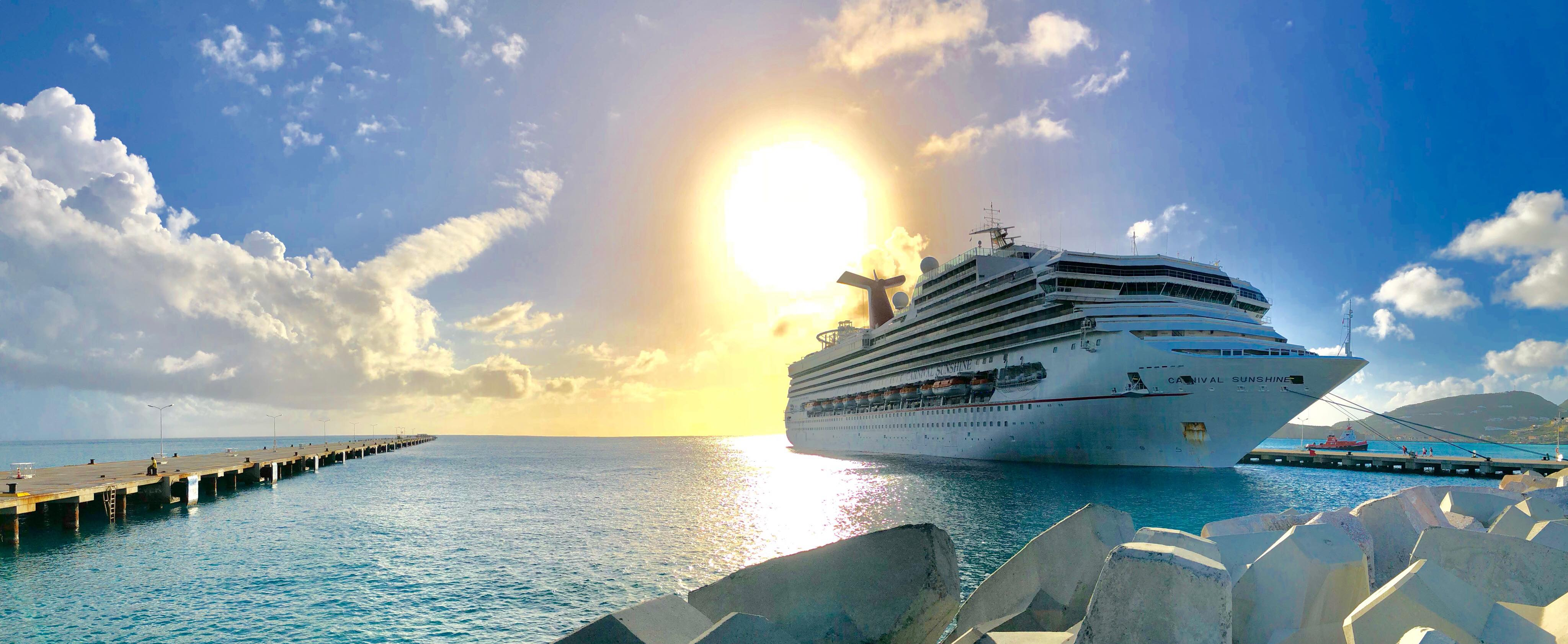 Carnival Returns to St. Maarten with Call by Carnival Sunshine Earlier Today