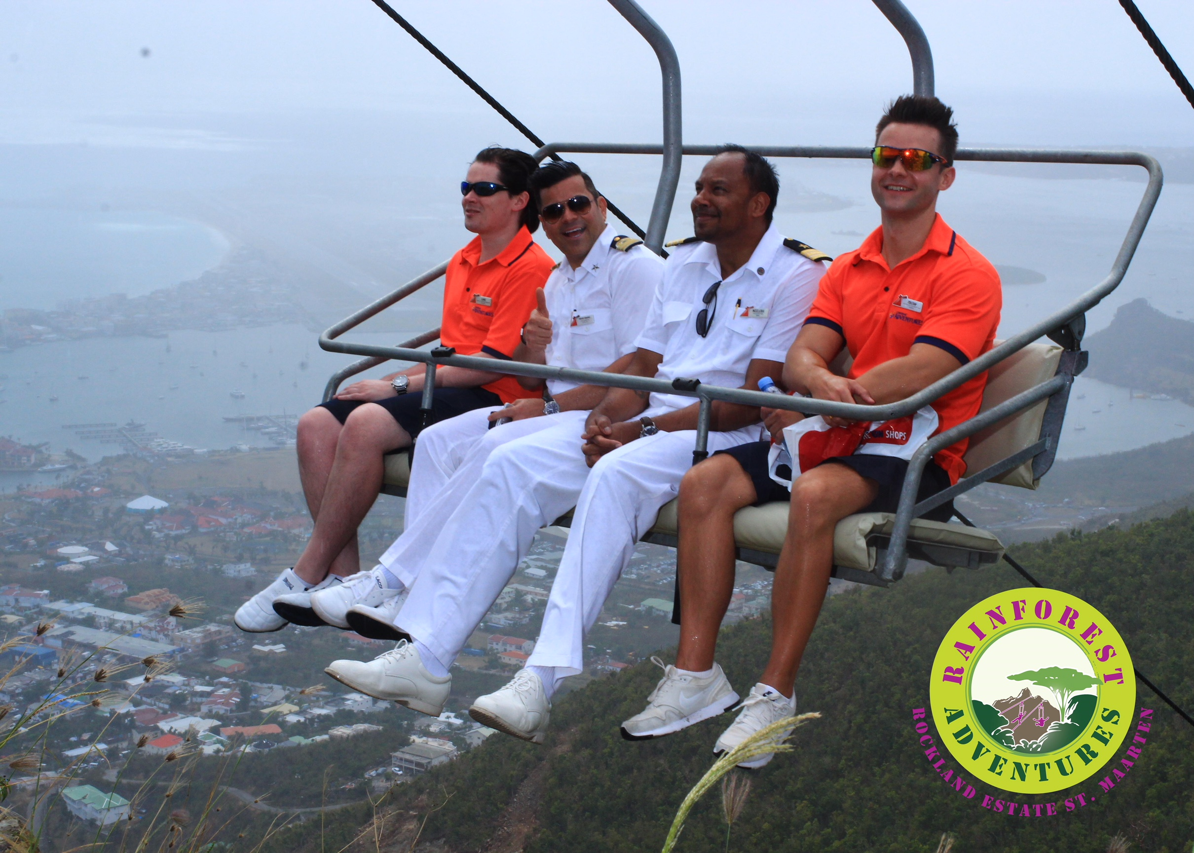 Grand Opening of St. Maarten Eco-Adventure Park Marked with Ribbon-Cutting Ceremony with Carnival Sunshine Officers, Carnival Corp. Executives, Island Officials
