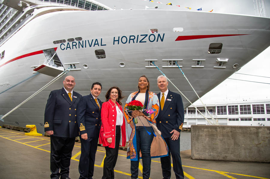 Queen Latifah Names New Carnival Horizon In  Naming Ceremony Showcasing Talented Young Artists Of  St. Jude Children's Research Hospital®