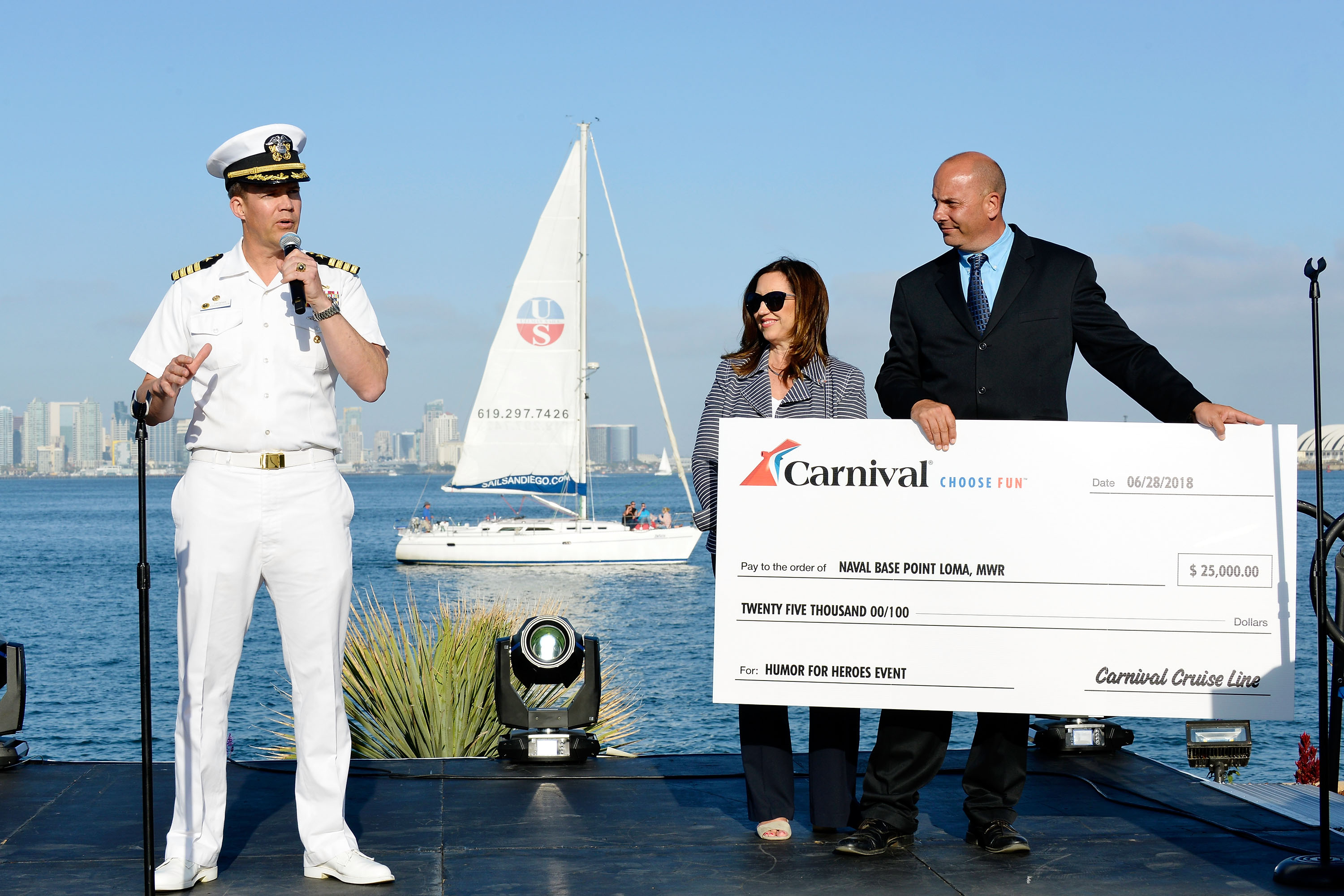 Αποτέλεσμα εικόνας για Carnival Cruise Line Hosts 'Humor for Heroes' Event at Naval Base Point Loma In San Diego Featuring Special Comedy Performance for 500 Military Personnel