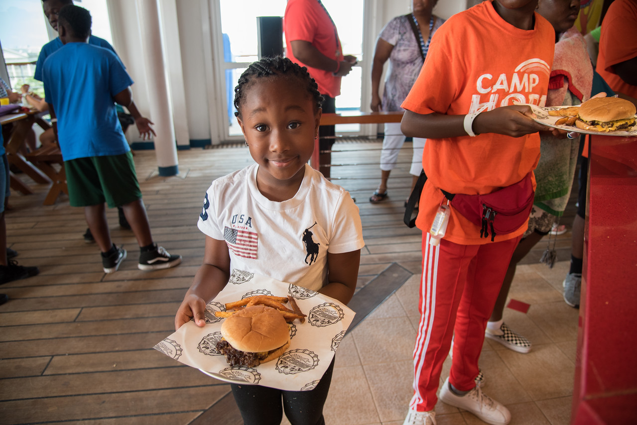 Carnival Ecstasy Hosts Day of Fun for More than 60 Kids from Camp Hope in Charleston
