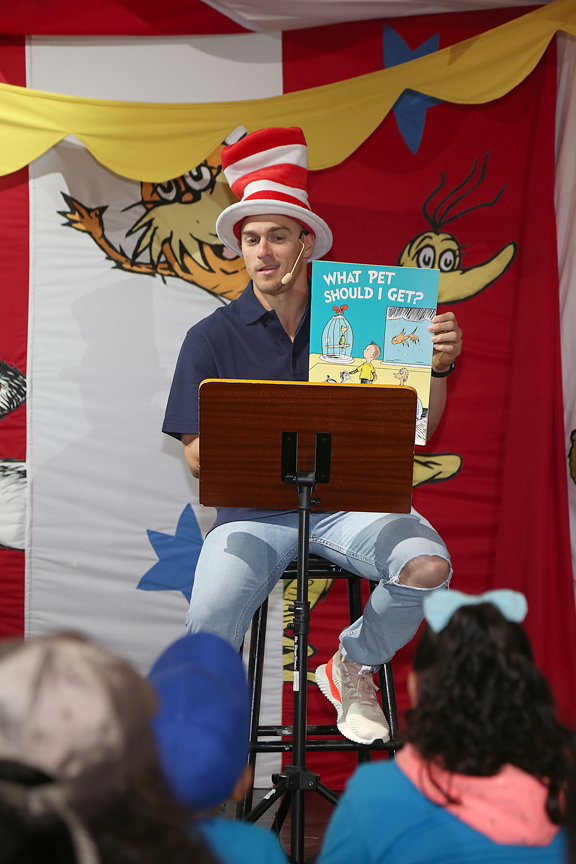 Carnival Inspiration Hosts Kick-Off Event for Dr. Seuss Word Challenge With Book Reading by Los Angeles Dodgers Player Kike Hernandez to Kids from Boys & Girls Club