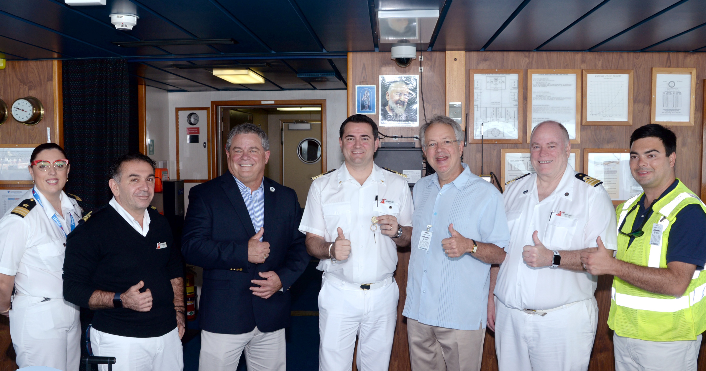 Carnival Ecstasy Supports Local Community in Charleston; Awarded Key to the City