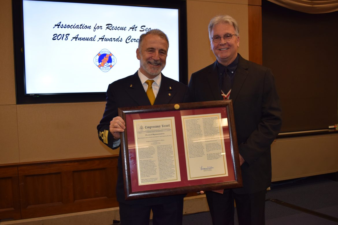 Carnival Elation Captain and Crew Recognized with AFRAS Humanitarian