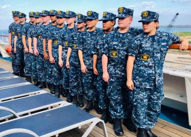 U.S. Naval Sea Cadets Get Unique Behind-the-Bridge Tour Aboard Carnival Liberty in Port Canaveral
