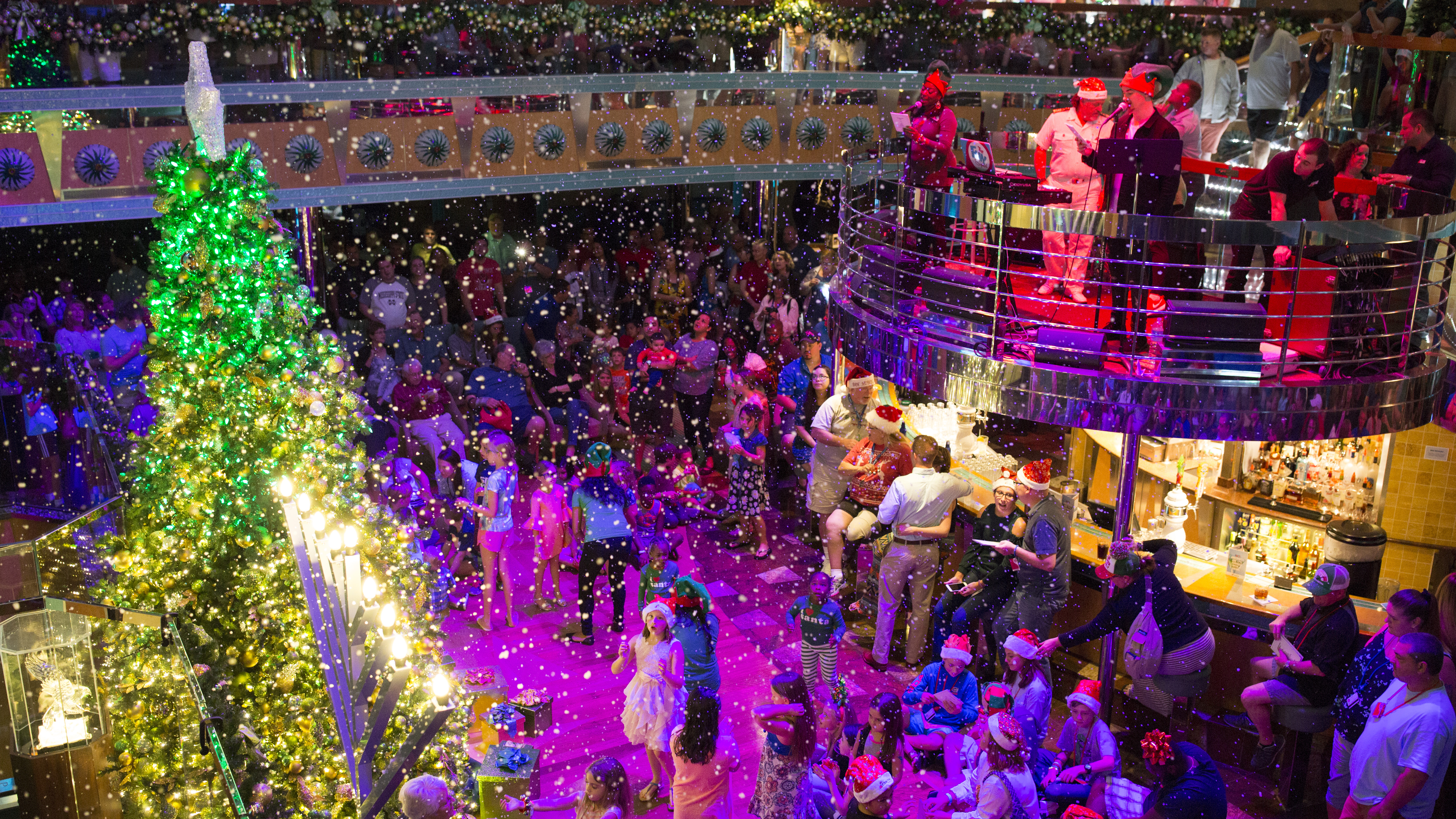 Carnival Cruise Line Decks Its Halls for the Holiday Season