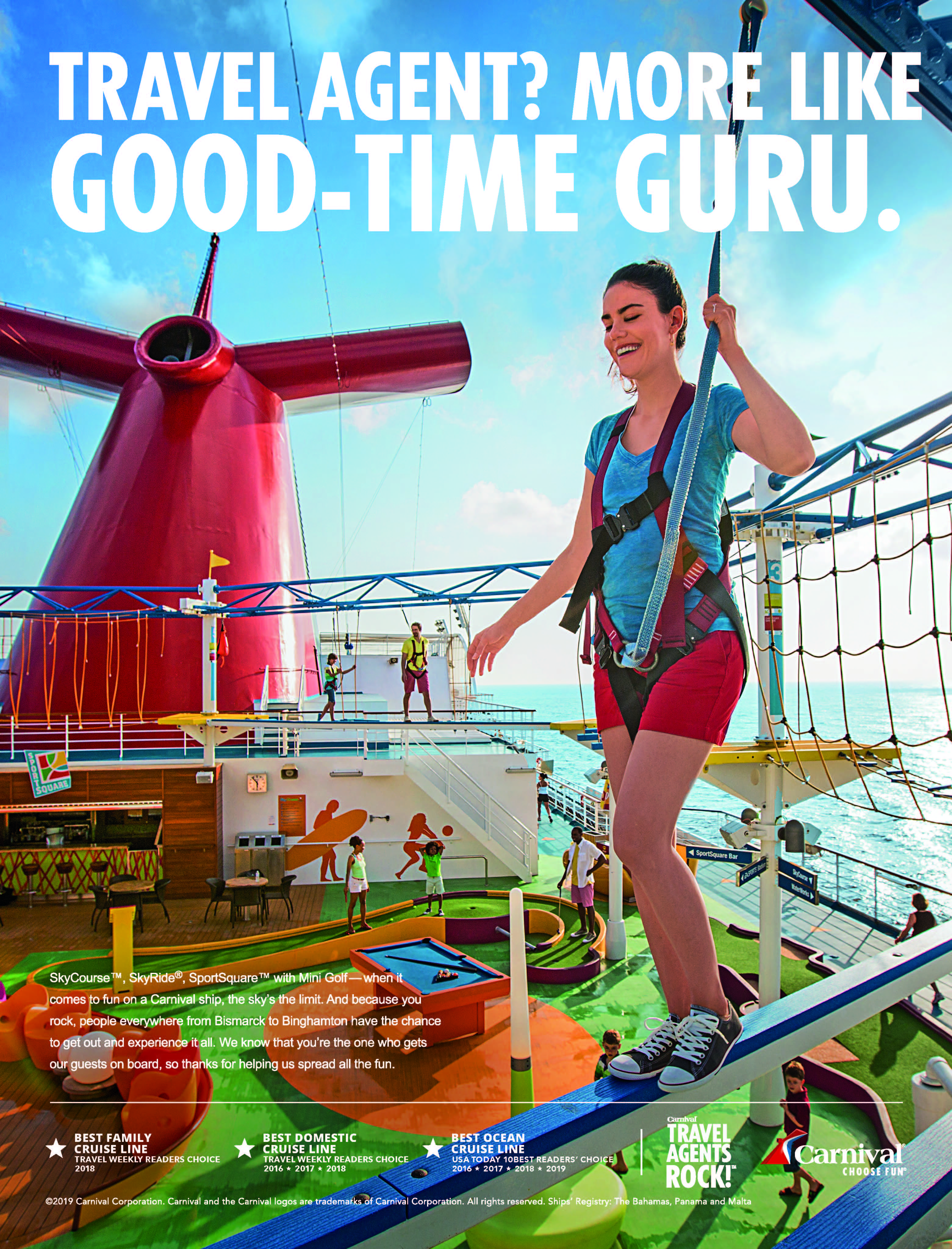 Carnival Cruise Line Celebrates Travel Agent Heroes in New Trade Ads