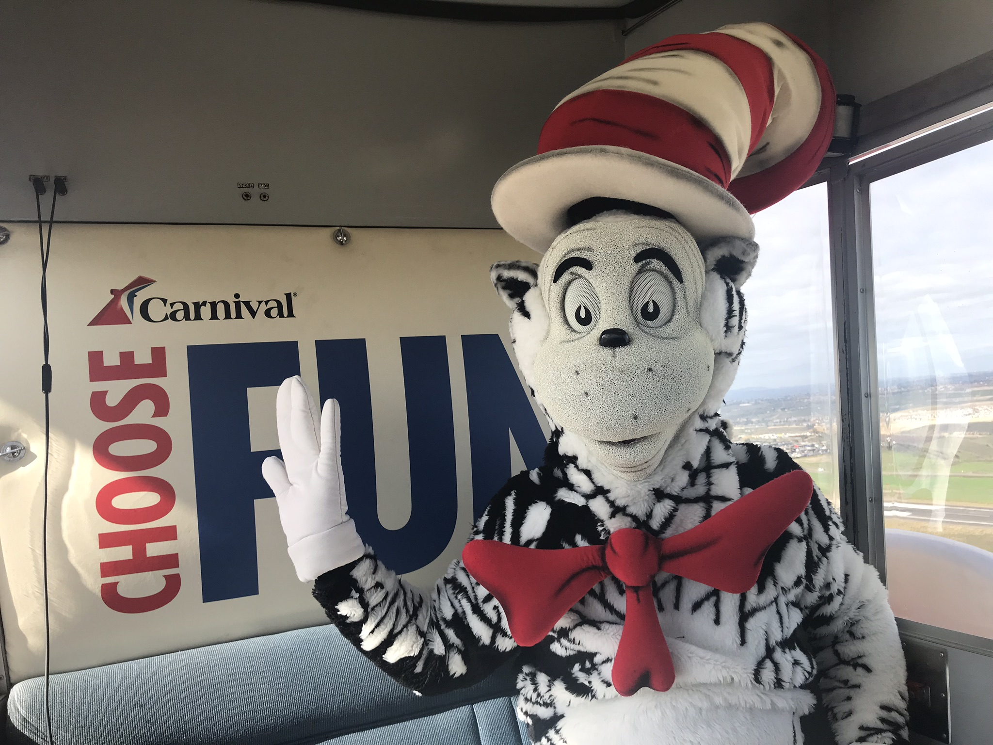 Oh, the Places He'll Go! The Cat in The Hat Takes to the Skies in Carnival's #ChooseFun AirShip