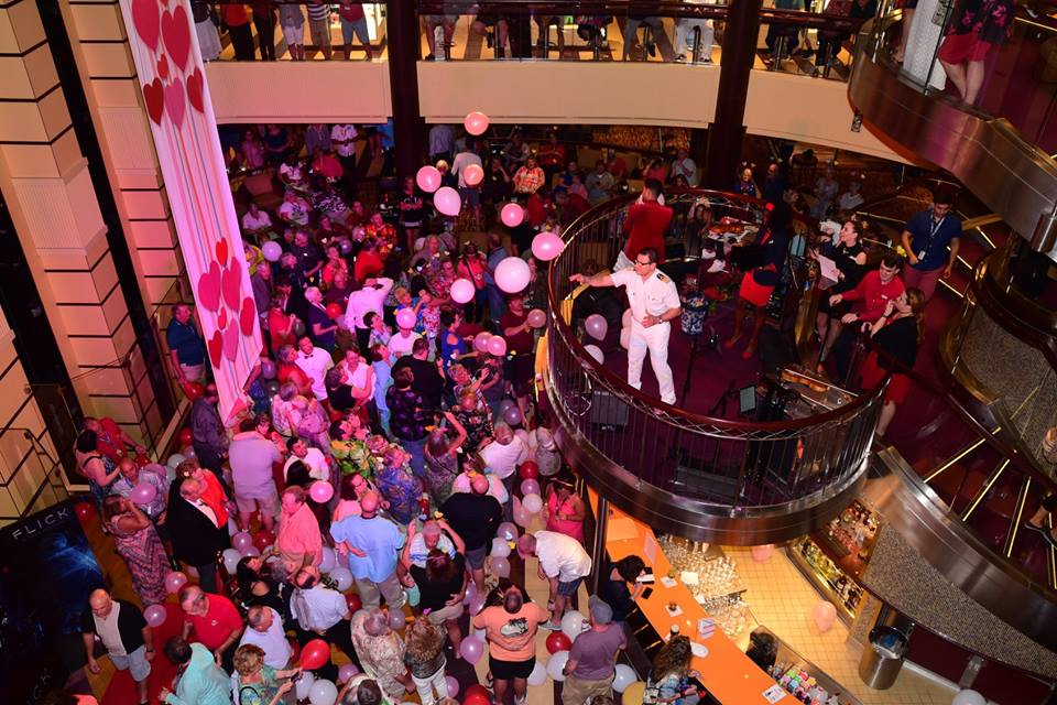 Carnival Cruise Line Sets Record for Biggest Vow Renewal at Sea with Nearly 2,000 Couples and Hosts First-Ever Aerial Vow Renewal Aboard #ChooseFun AirShip