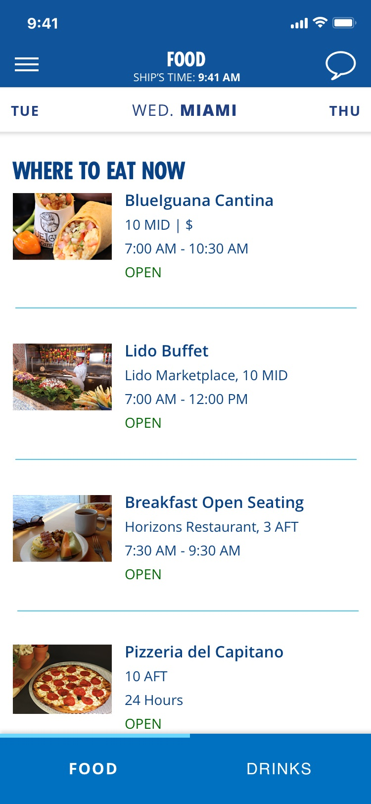 Carnival Cruise Line Expands Hub App With Pre-Cruise Purchasing Capabilities; 'Pizza Anywhere' Feature Rolled Out To Additional Ships