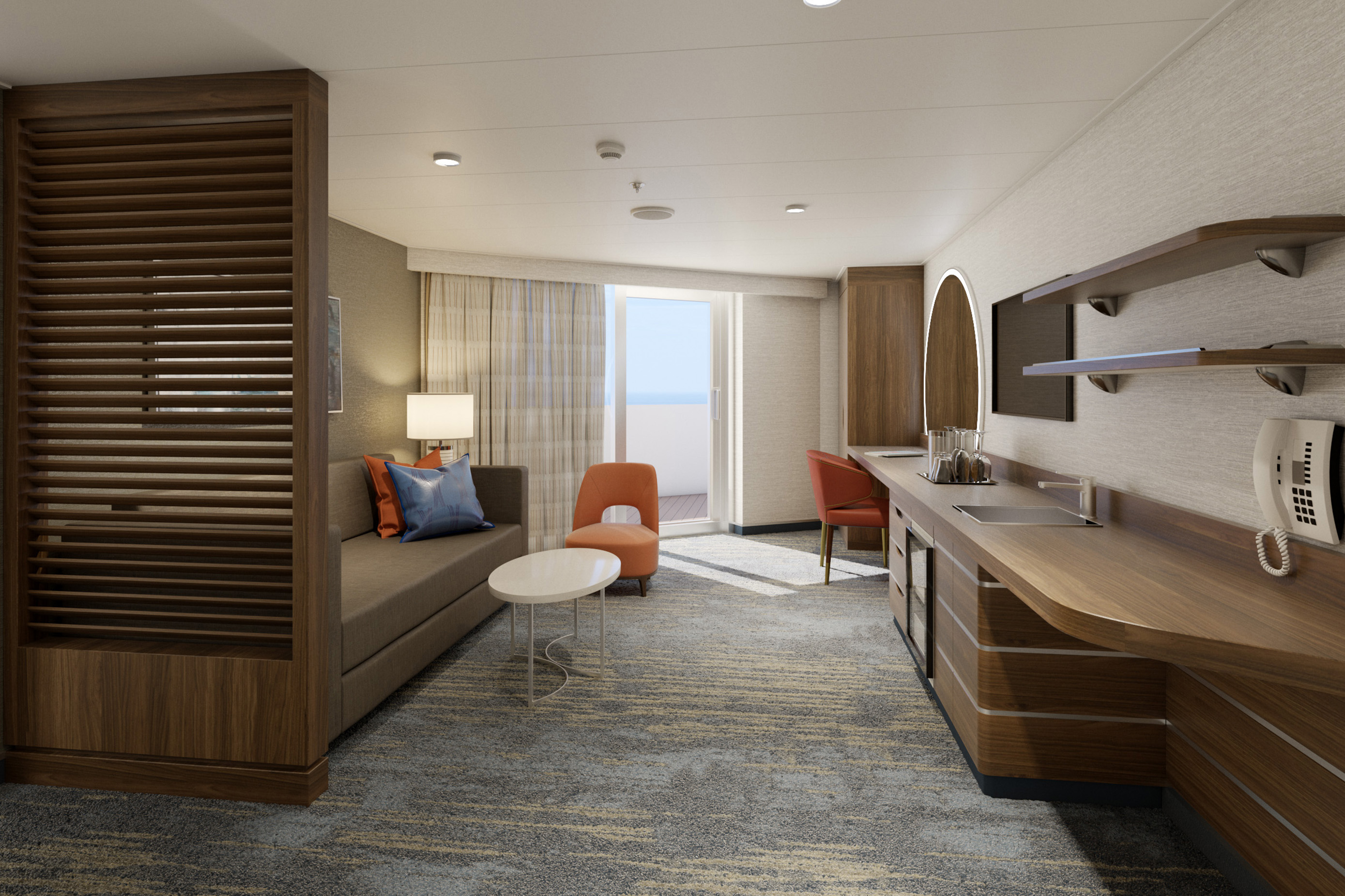 Carnival Mardi Gras to Debut Premium 'Carnival Excel' Suites with Select Amenities & New Resort-Style Loft 19 Enclave Access