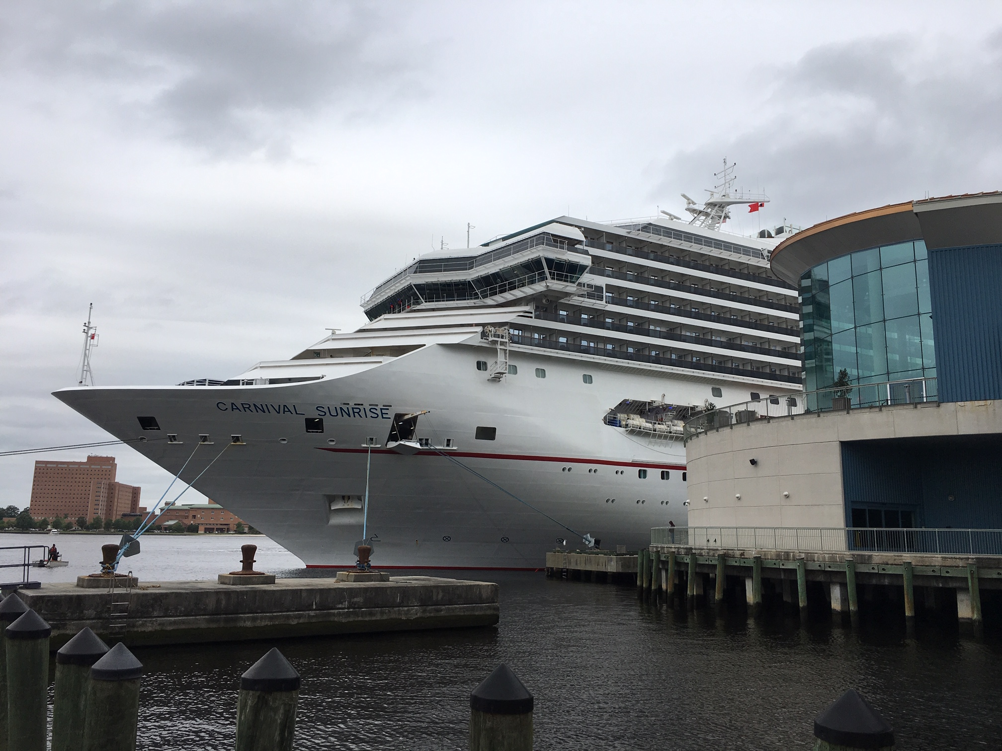 Carnival Sunrise Departs on Inaugural Voyage from Norfolk