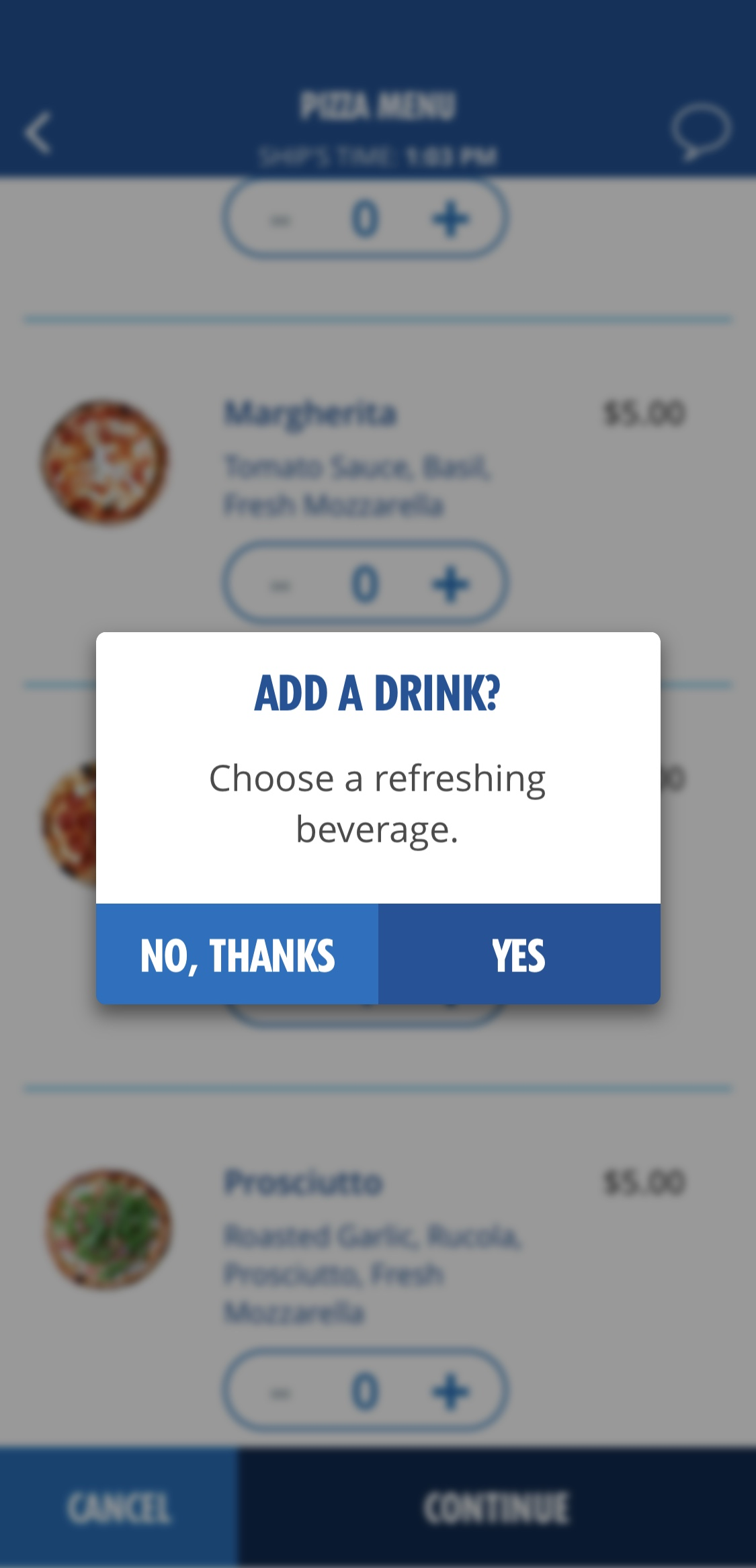 Carnival Cruise Line Adds Drinks to HUB App's 'Pizza Anywhere' Feature