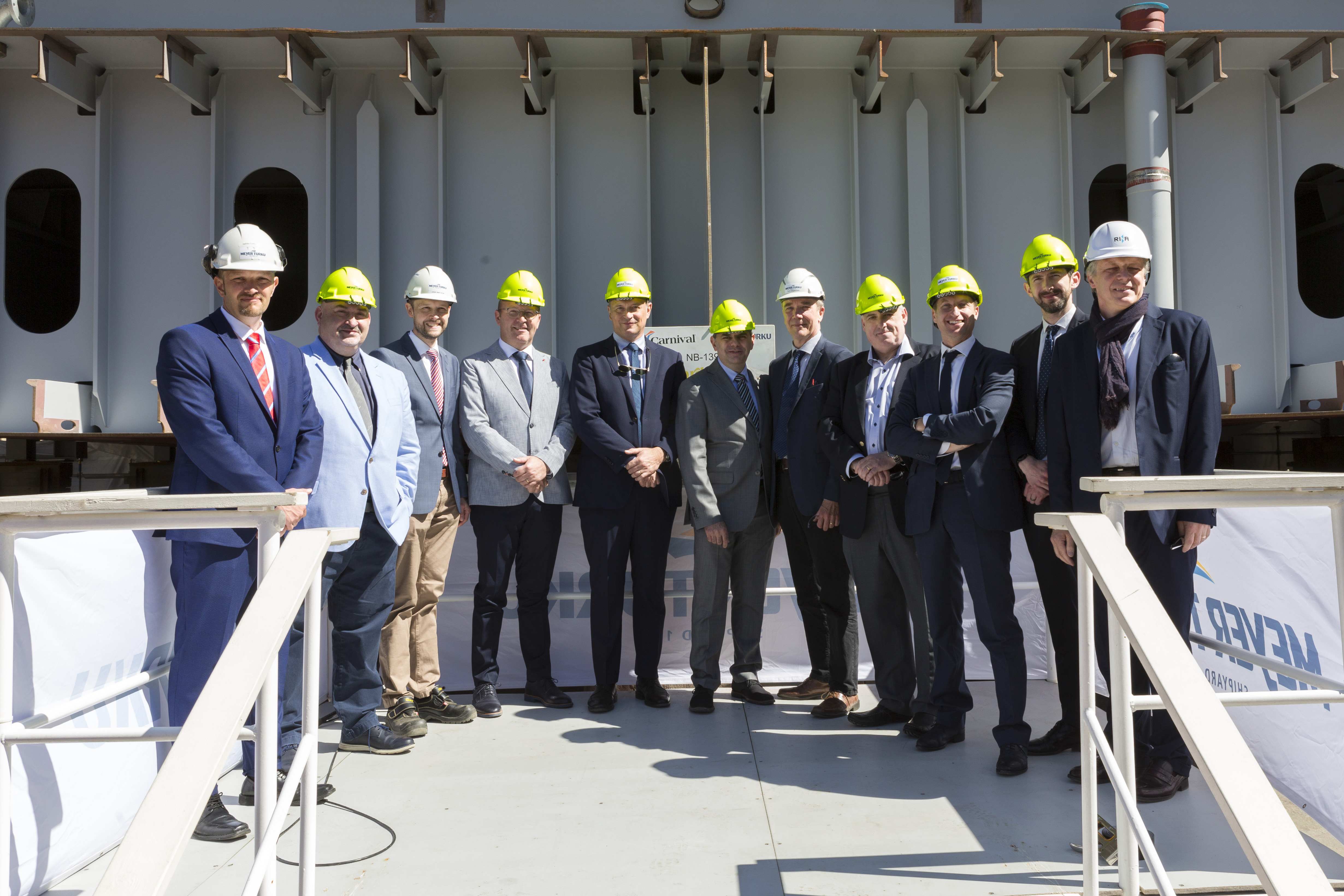 Keel-Laying Ceremony Held for Mardi Gras Set to Debut in Europe in August 2020