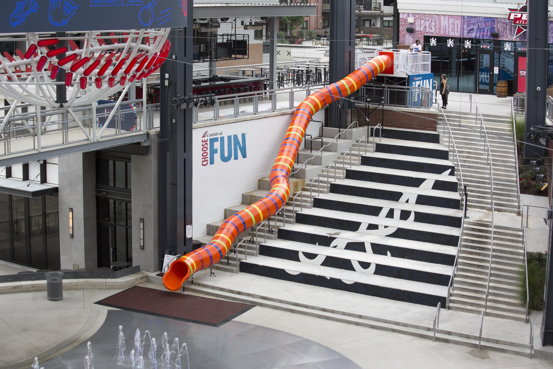 Carnival Cruise Line Slides Into Fun at The Battery Atlanta