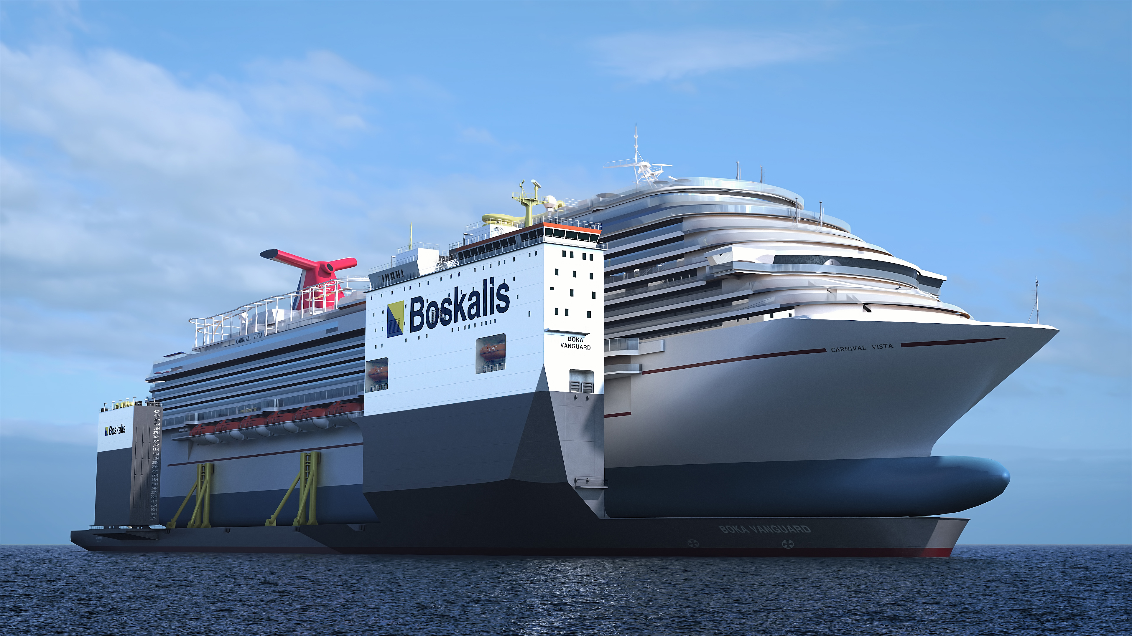 Carnival Vista's Propulsion System to be Repaired Using First-Of-Its-Kind 'Floating Dry Dock'