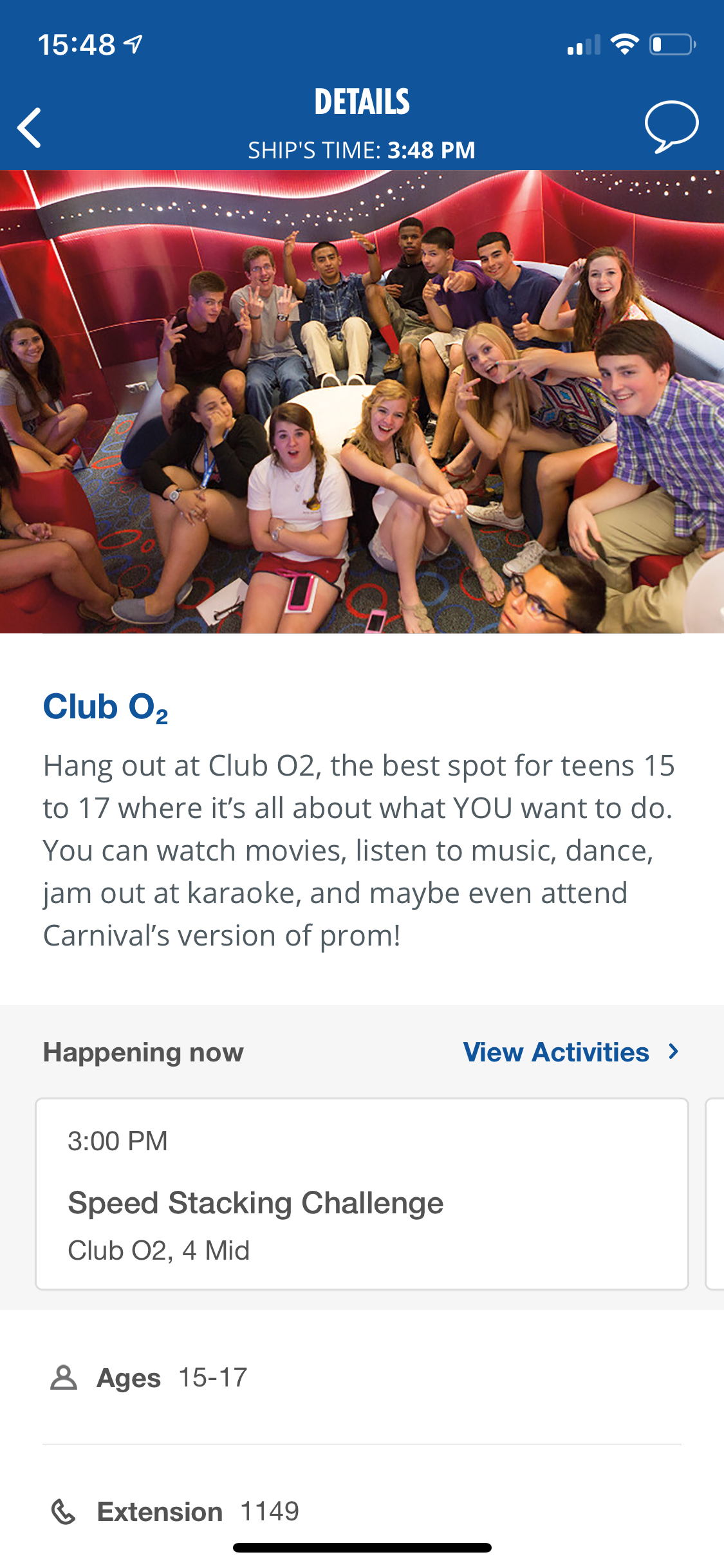 Carnival Cruise Line Enhances Popular HUB App to Include Comprehensive Day-by-Day Schedule of Youth Activities