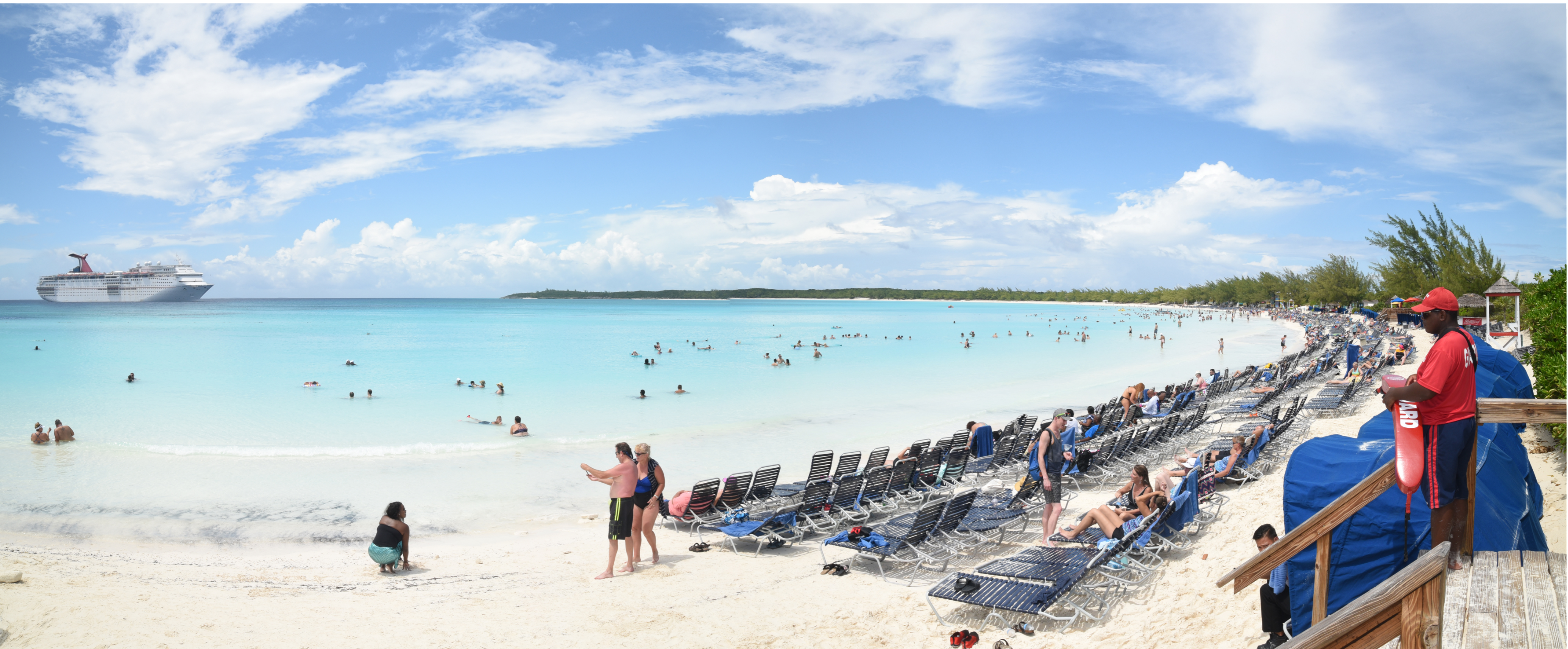 Carnival Ecstasy Resumes Calls at Half Moon Cay, Nearly 2,200 Guests Enjoy a Day of Fun in the Sun at the Private Bahamian Island