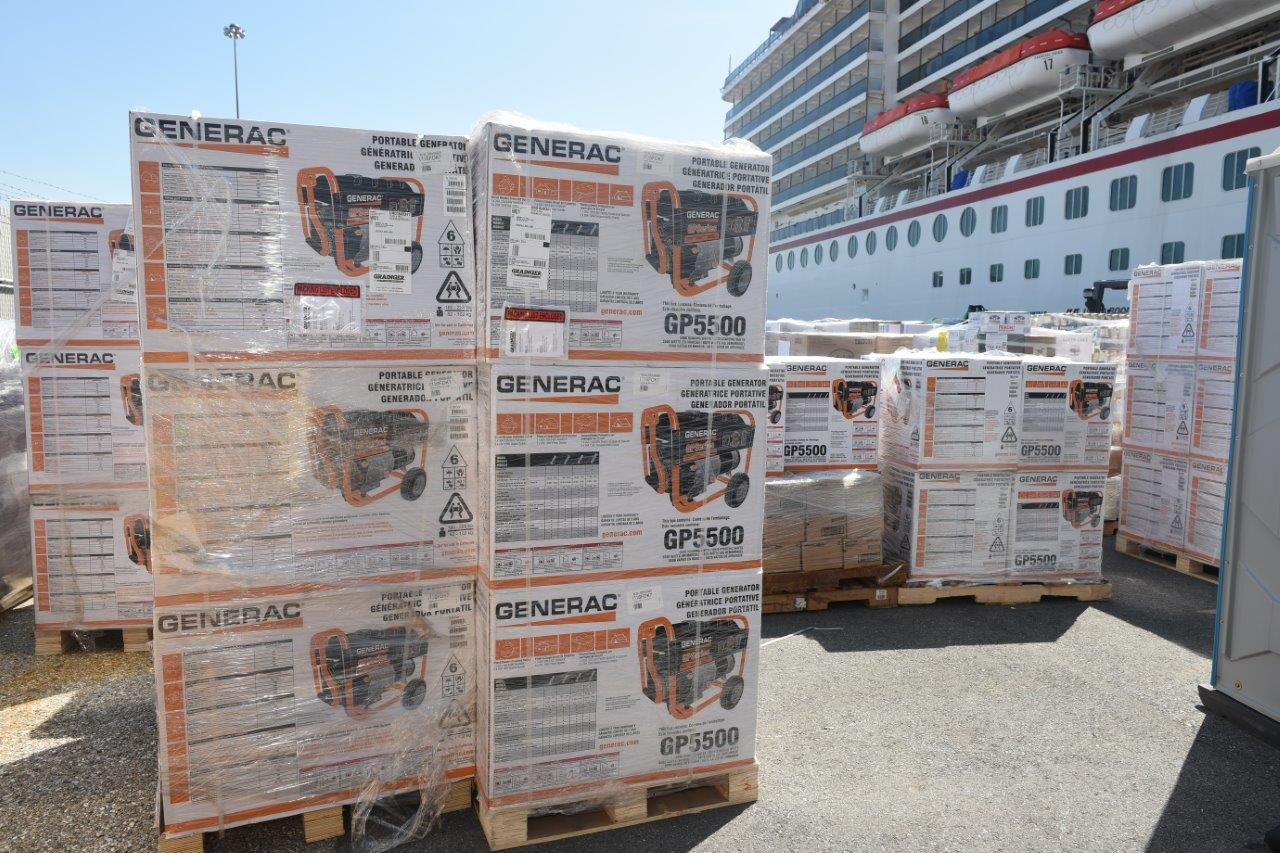 Hurricane Dorian Relief Supplies on Their Way to Freeport via Two Carnival Cruise Line Ships