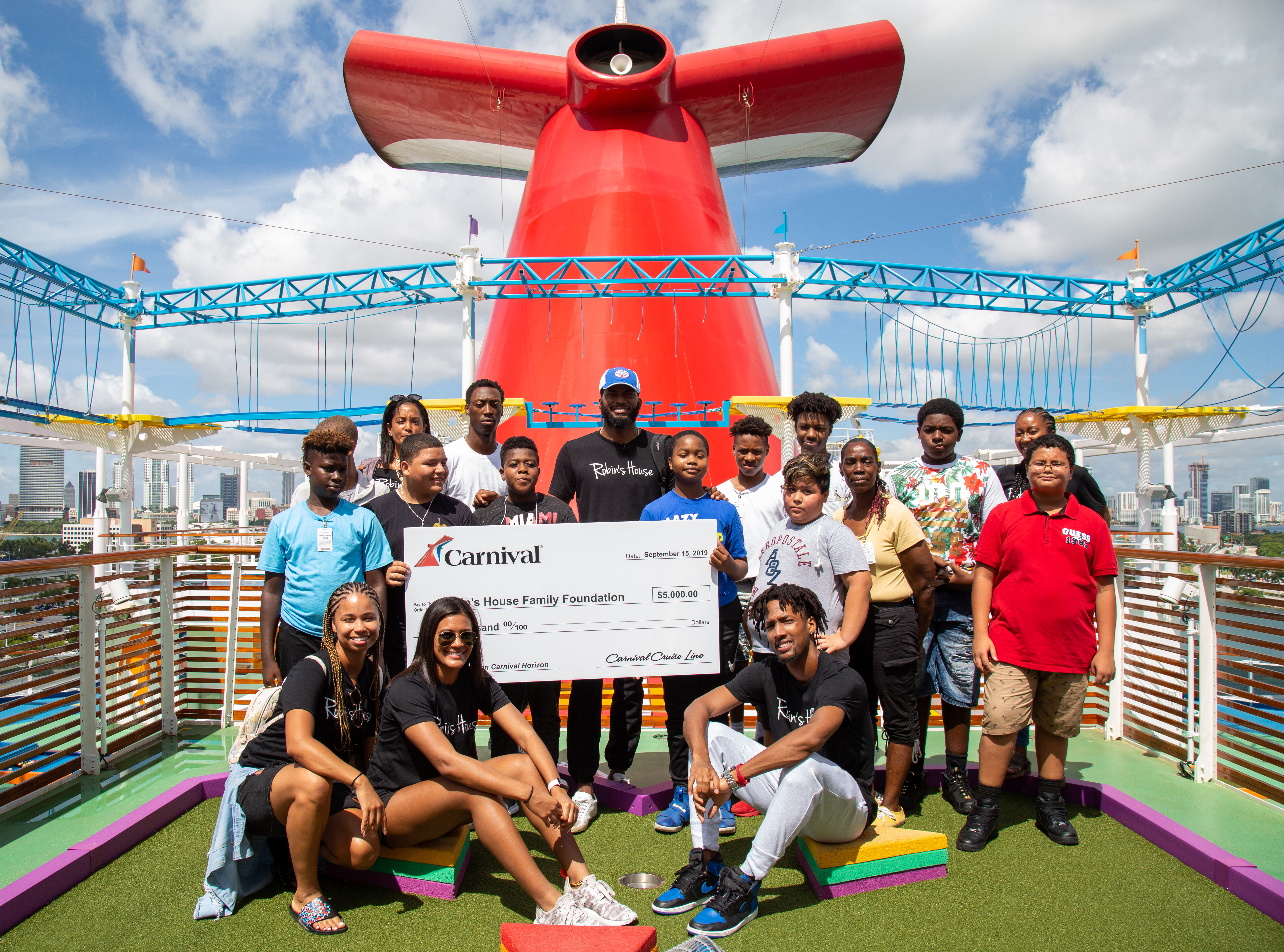 Carnival Cruise Line, Miami HEAT Player Justise Winslow Team Up to Offer Day of Fun for Underprivileged Kids Aboard Carnival Horizon
