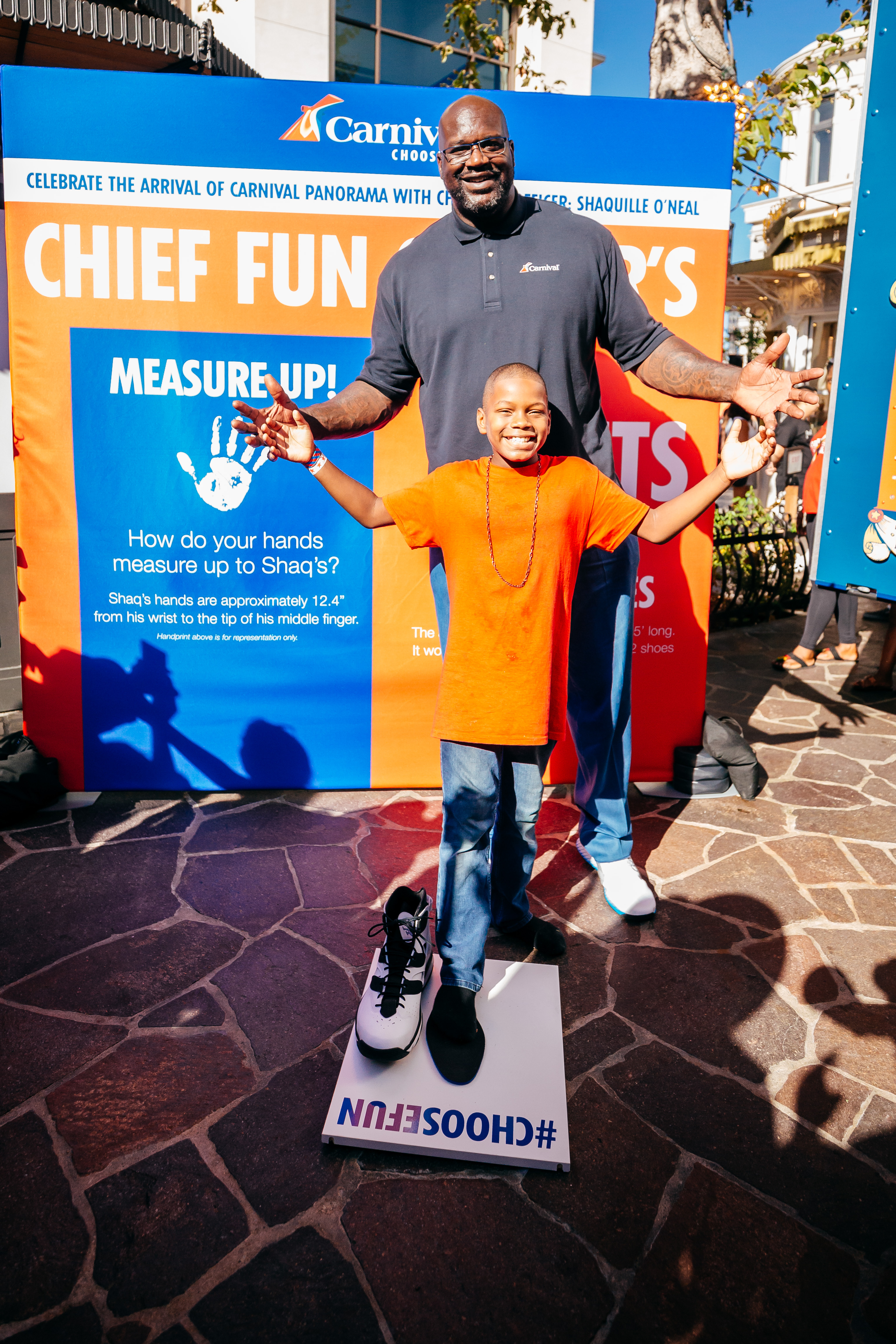 Carnival's CFO Shaquille O'Neal Brings Larger-Than-Life Fun to Los Angeles