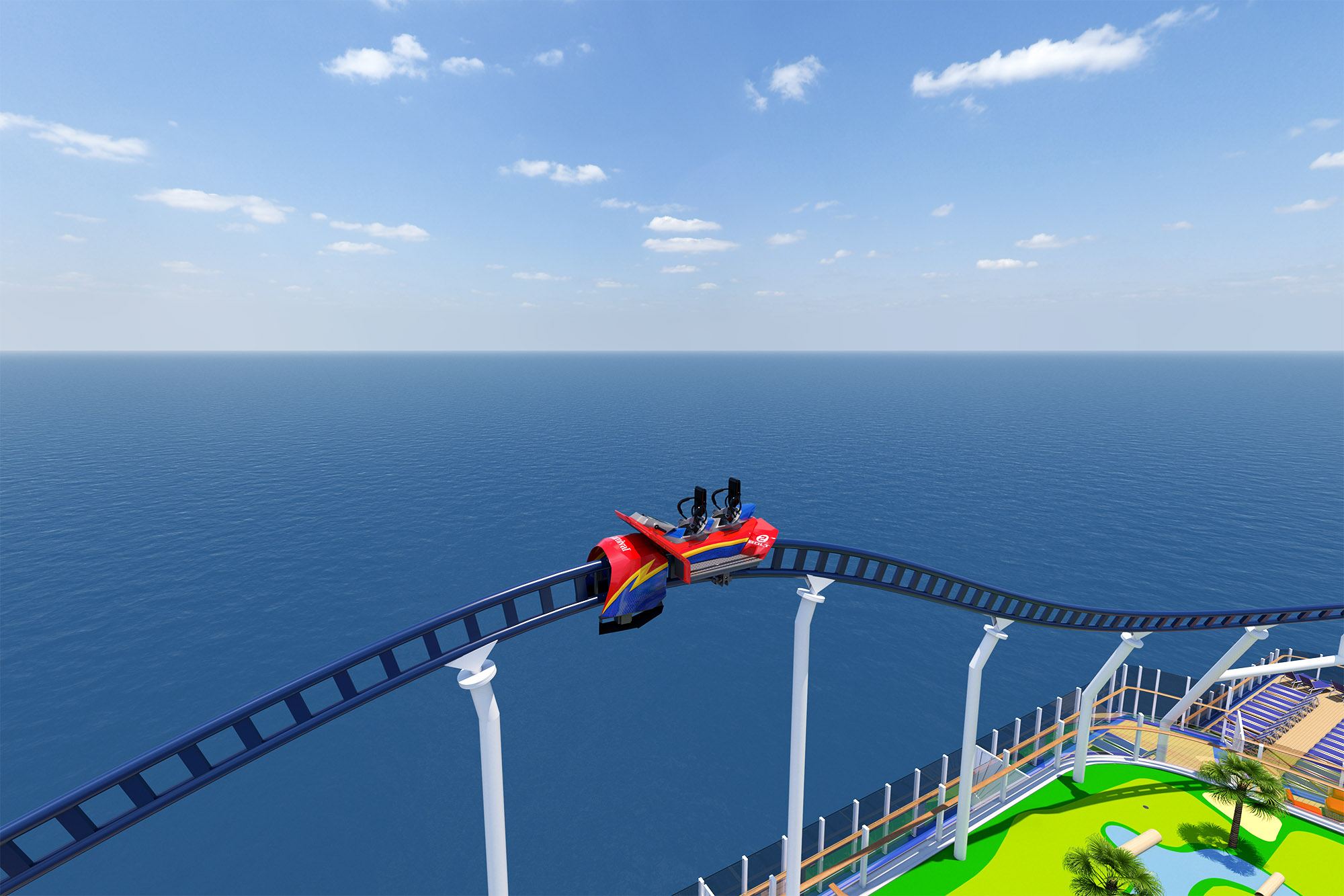Carnival Cruise Line Unveils Additional Details on Roller Coaster at Sea and Expansive Outdoor Recreation Area on Mardi Gras