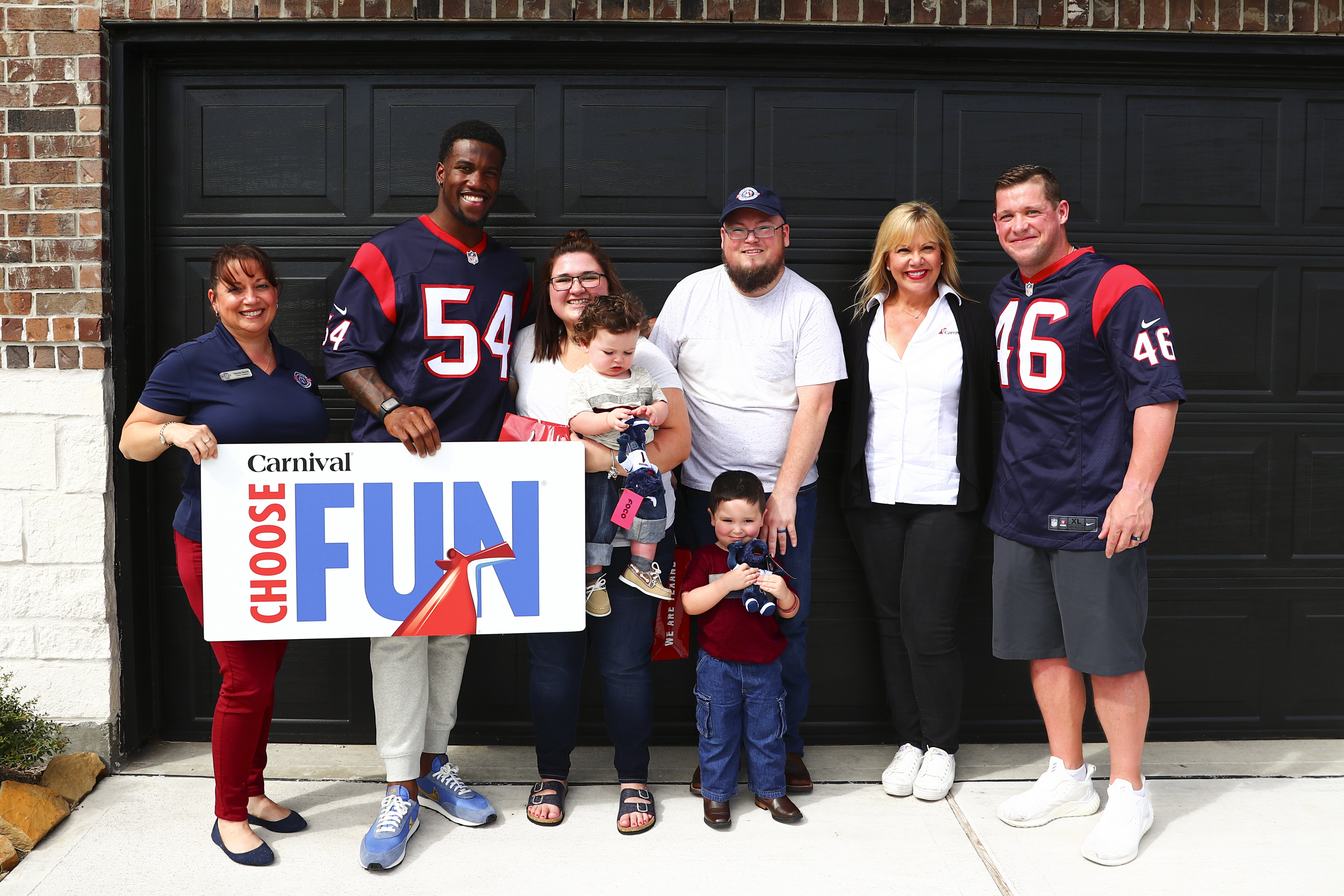 Carnival Cruise Line, Operation Homefront, Houston Texans Team Up to Surprise Military Family with the Gift of Fun – a Free Cruise from Galveston!