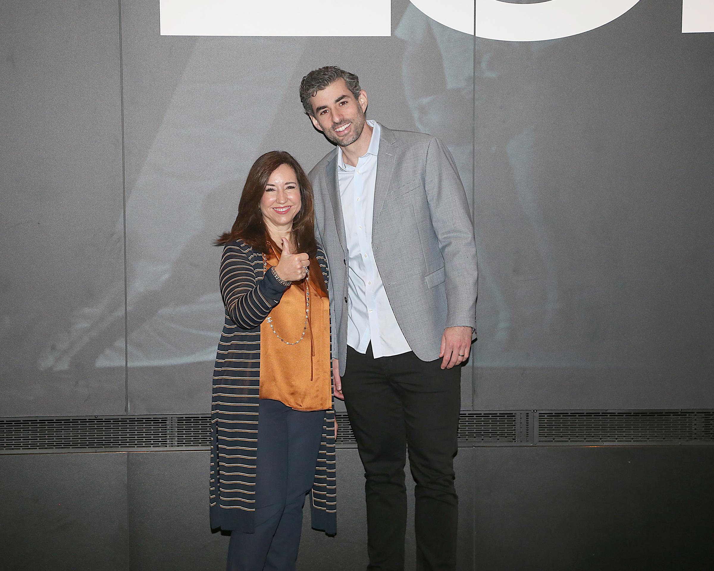 Christine Duffy and Sky Zone CEO Jeff Platt