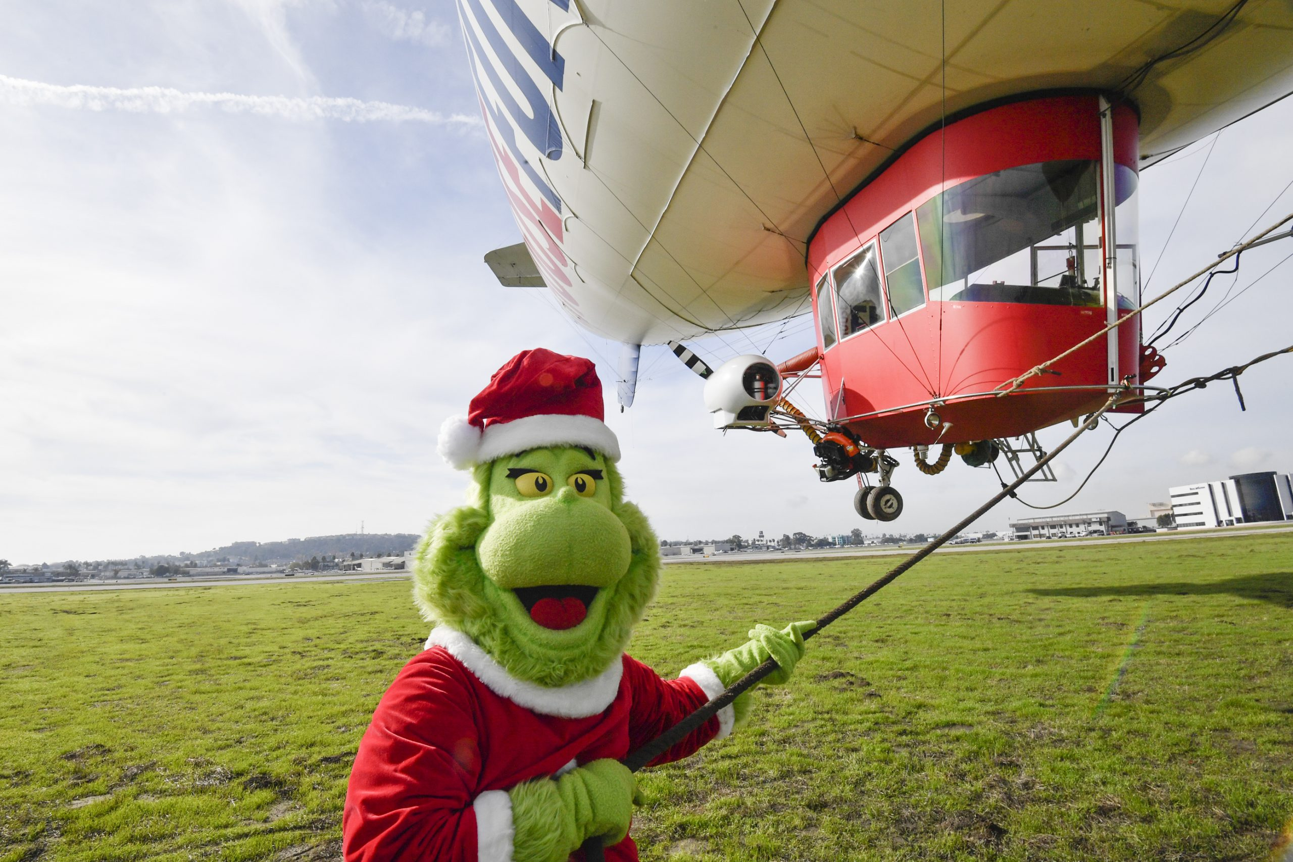 How the Grinch Stole the Carnival AirShip! Blimp Concludes California Tour, Makes Way to Miami for The Big Game