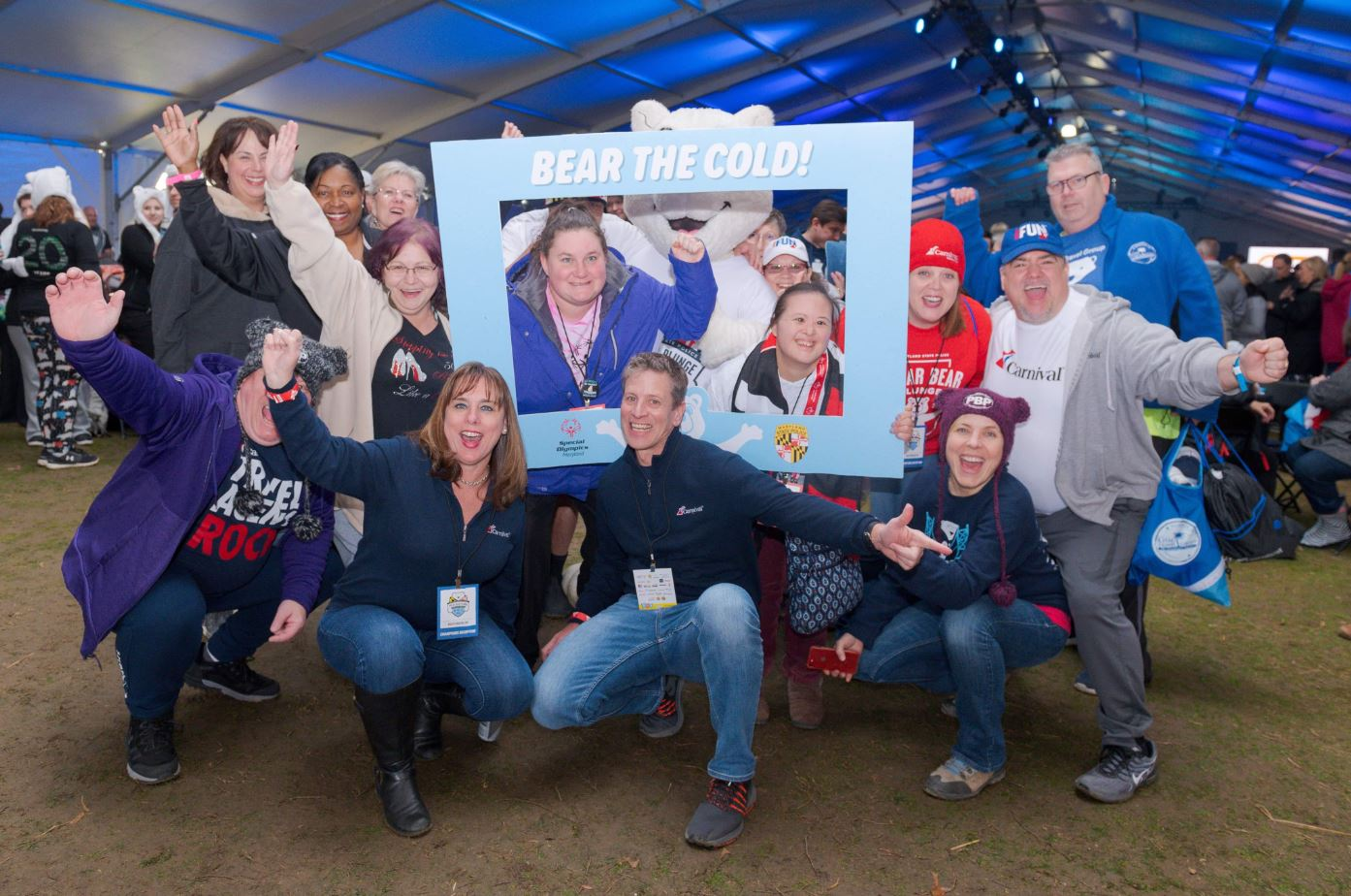 Carnival's Sales Team Members Brave the Icy Waters of the Chesapeake to Raise Money for Maryland Special Olympics