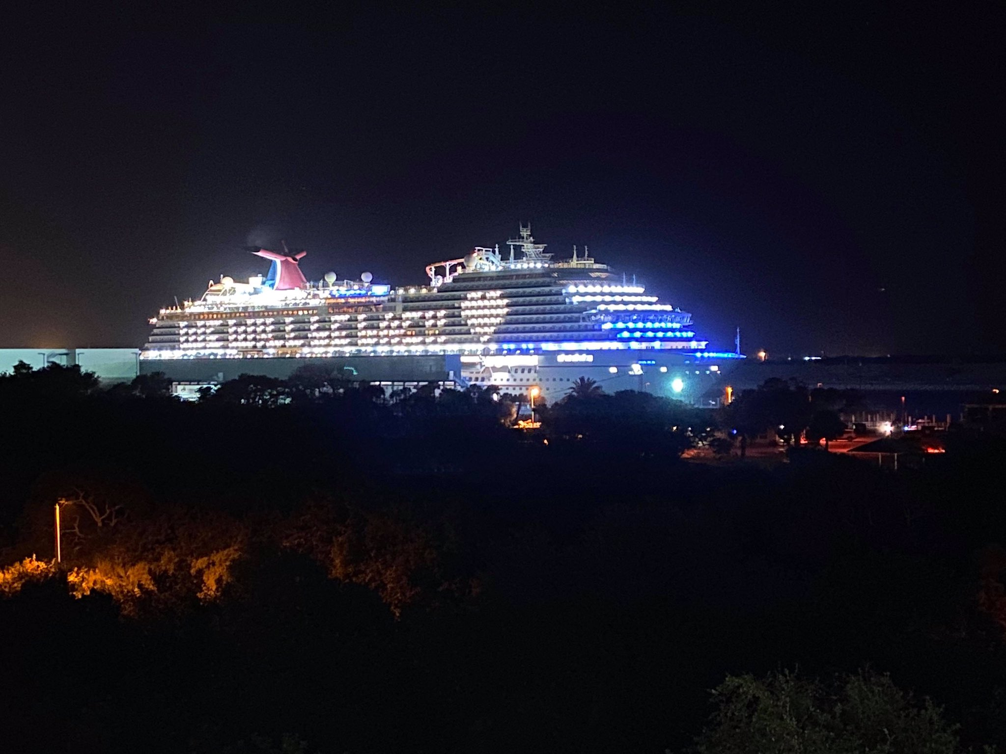Lighting Up the Night Carnival Cruise Line's Fleet Offers Illuminating Message of 'We Will Be Back'