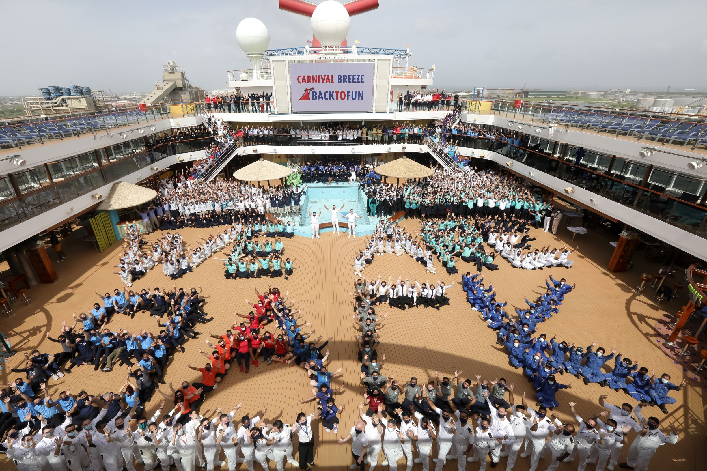 Carnival Breeze Returns to Service from Galveston Today; Third Carnival Cruise Line Ship to Resume Guest Operations