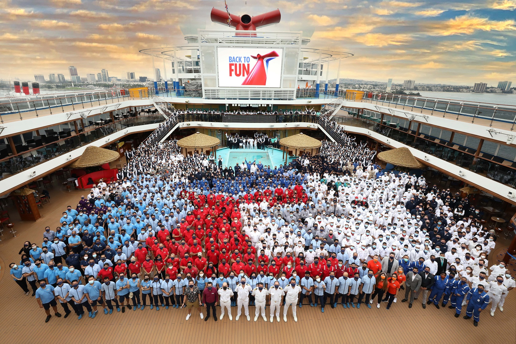 Carnival Cruise Line Sets Sail On First Cruise From California (August 2021)